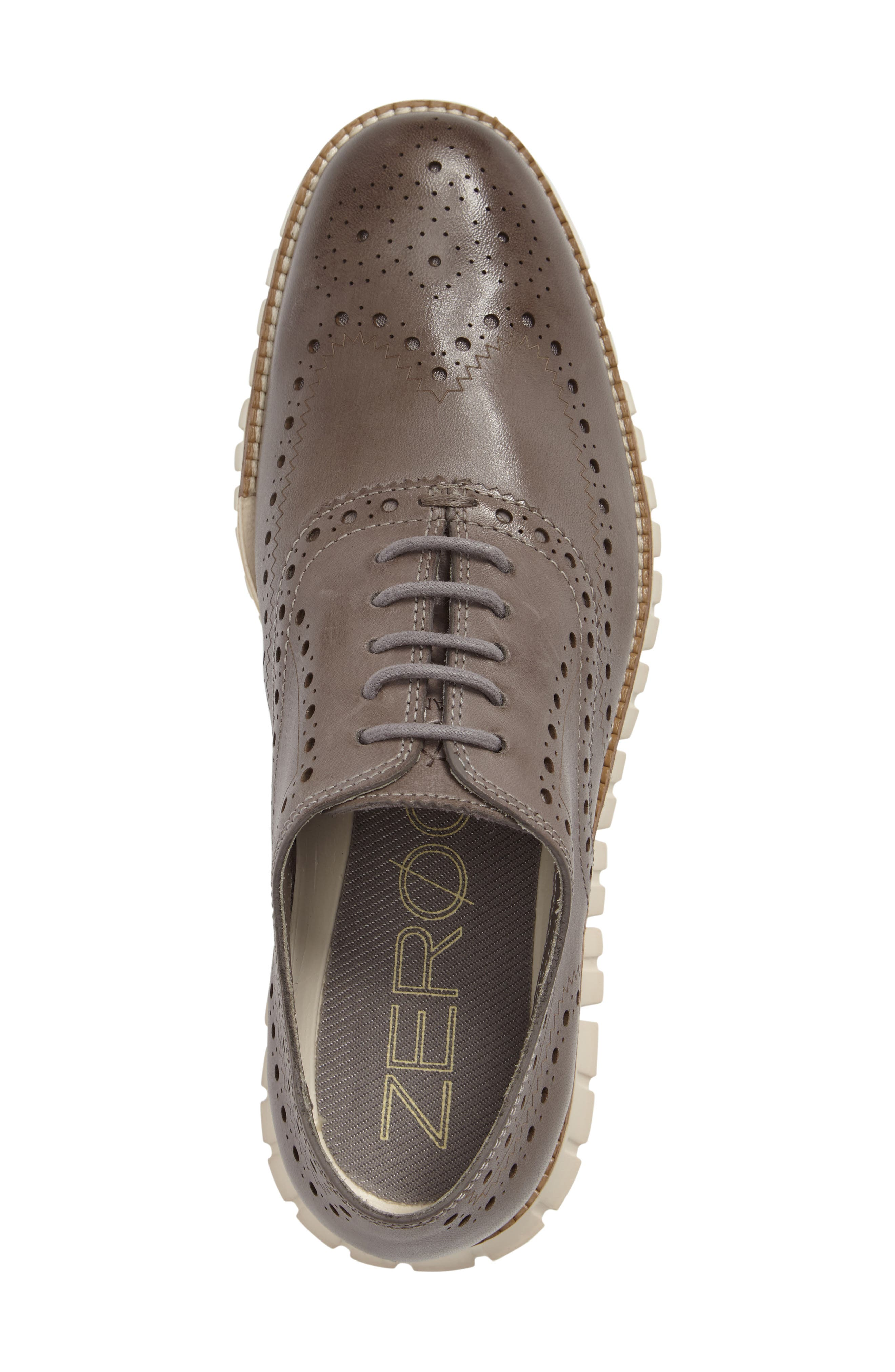COLE HAAN, 'ZeroGrand' Wingtip Oxford, Alternate thumbnail 3, color, IRONSTONE LEATHER
