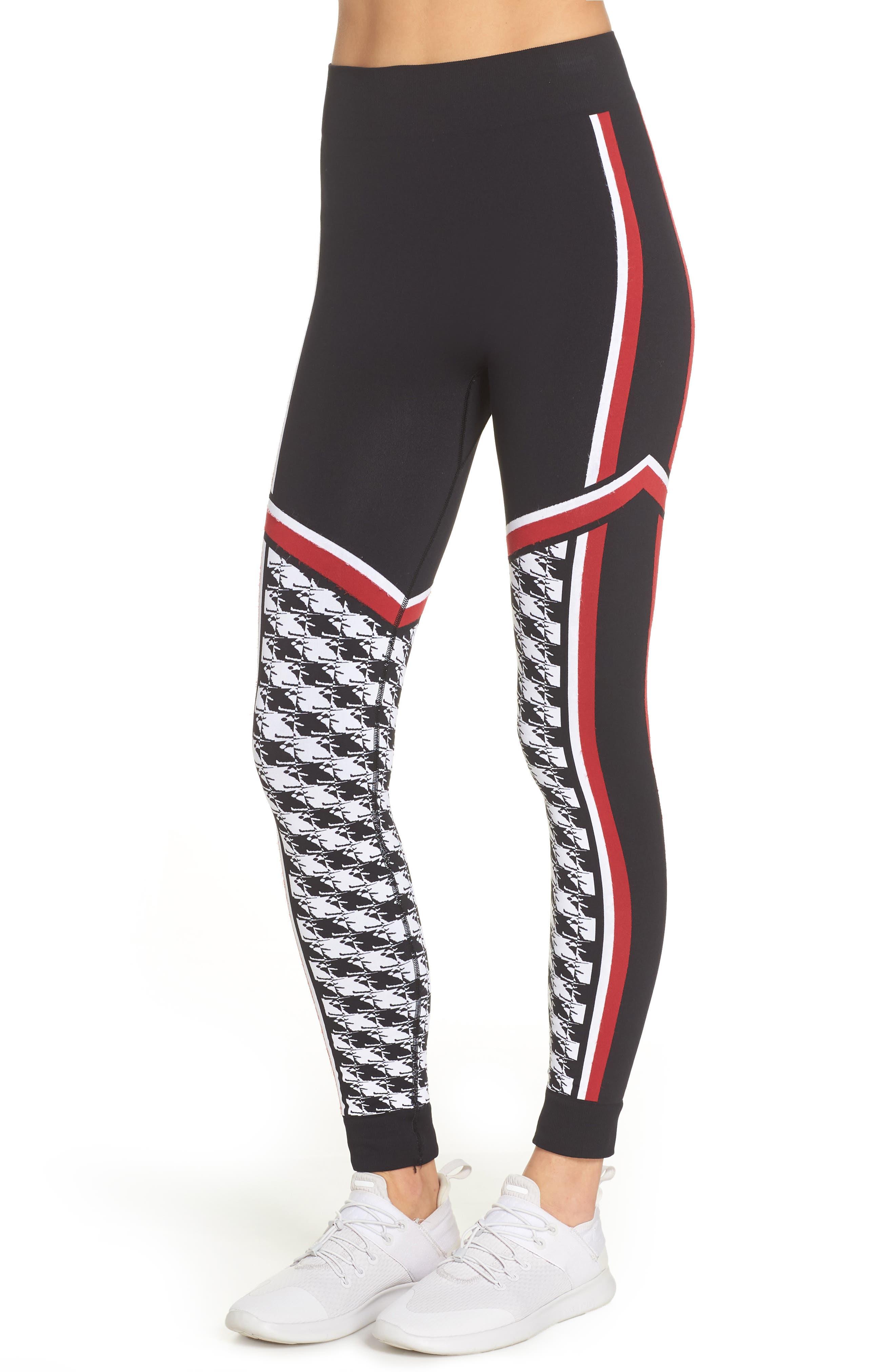 SWEATY BETTY, Ski Seamless Base Layer Leggings, Alternate thumbnail 4, color, 001