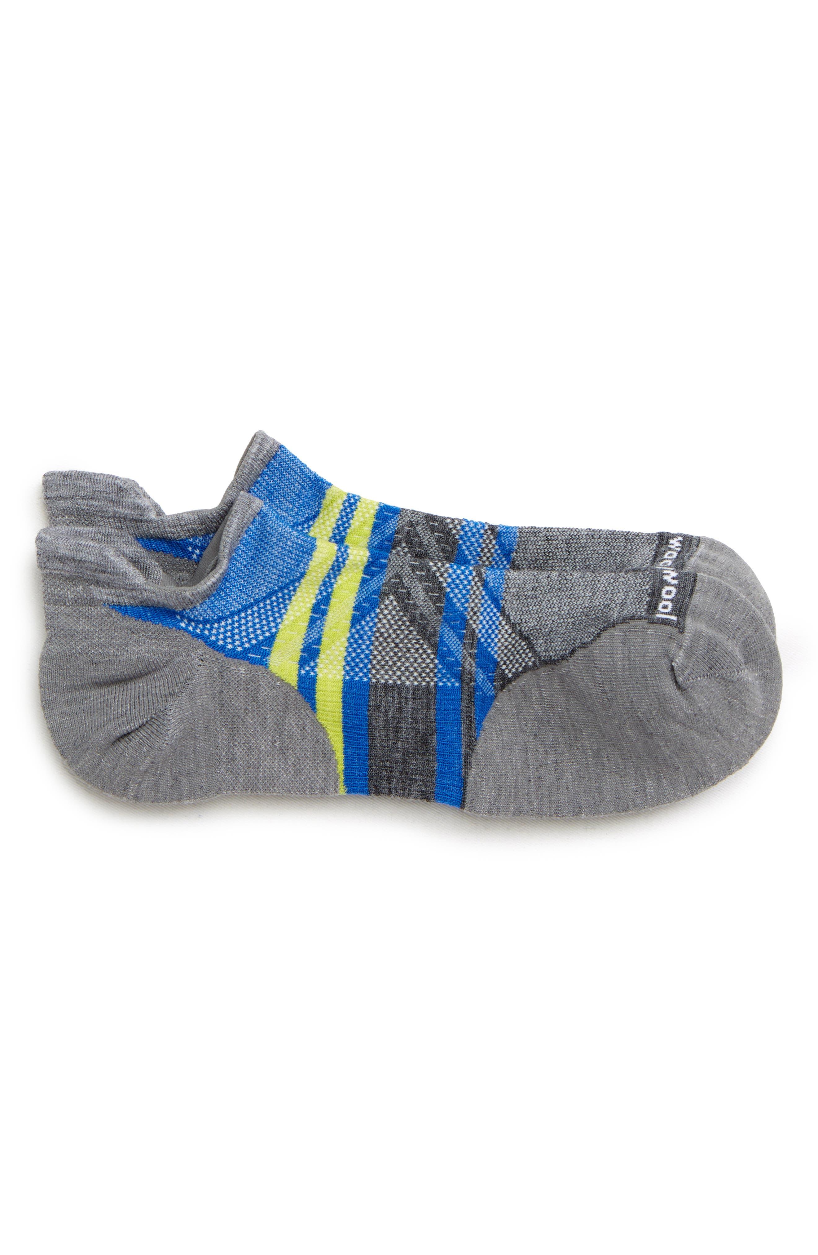SMARTWOOL, PhD<sup>®</sup> Run Light Elite Socks, Main thumbnail 1, color, LIGHT GREY