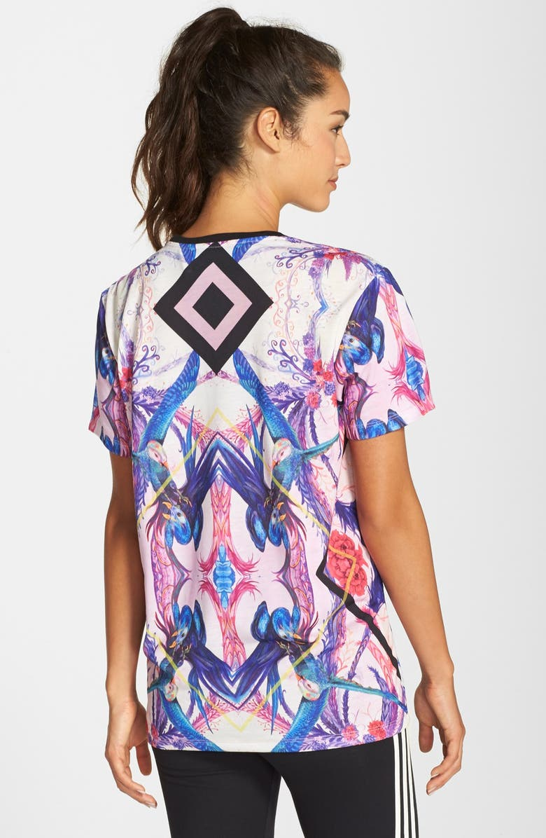 fe02c2c890a ADIDAS ORIGINALS adidas Originals 'Optic Bloom' Trefoil Tee, Main, color,  ...