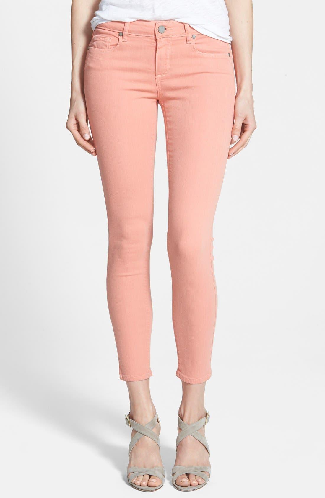 PAIGE, Denim 'Verdugo' Ankle Super Skinny Jeans, Main thumbnail 1, color, 650