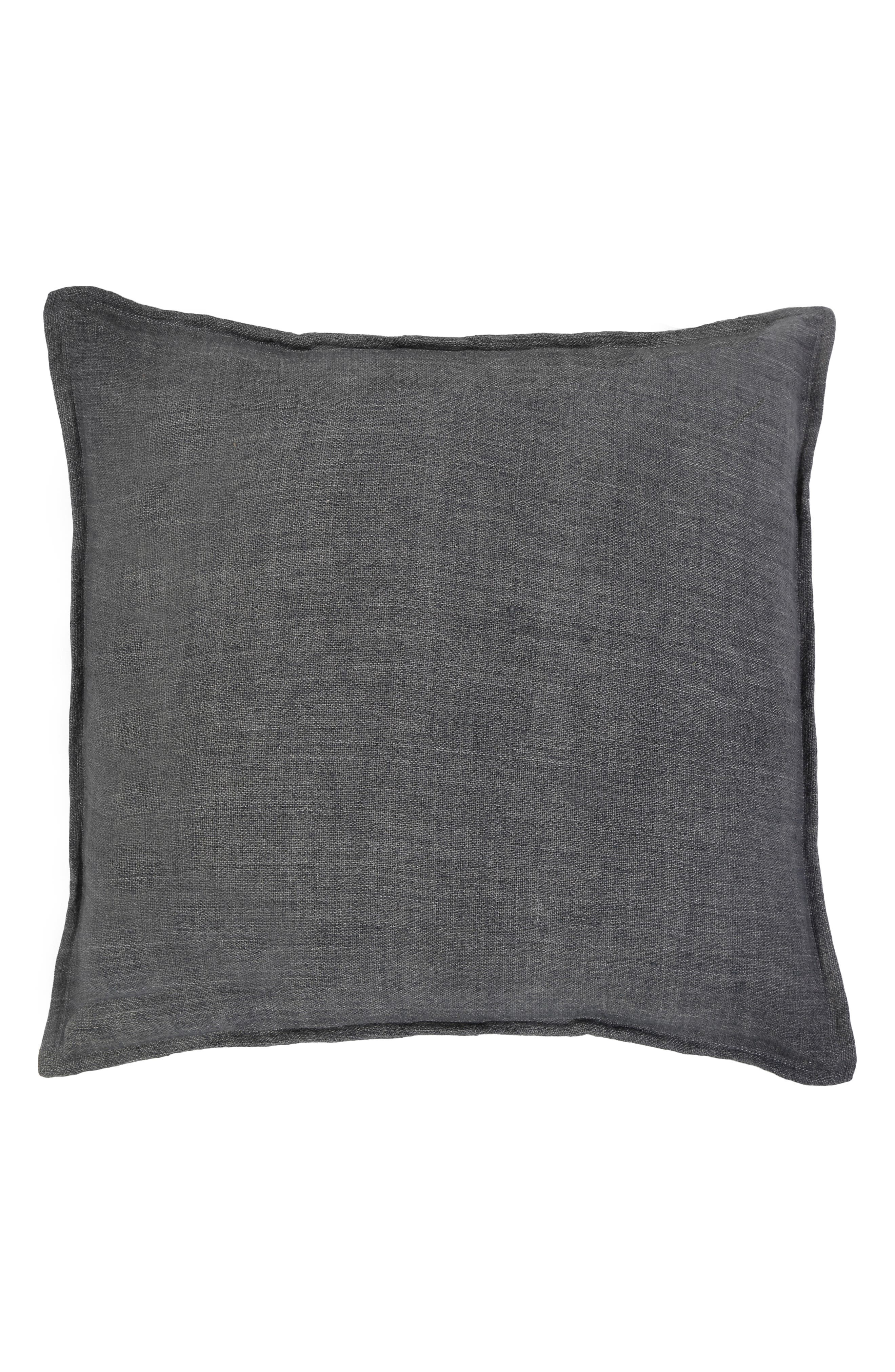 POM POM AT HOME, Montauk Large Euro Accent Pillow, Main thumbnail 1, color, CHARCOAL