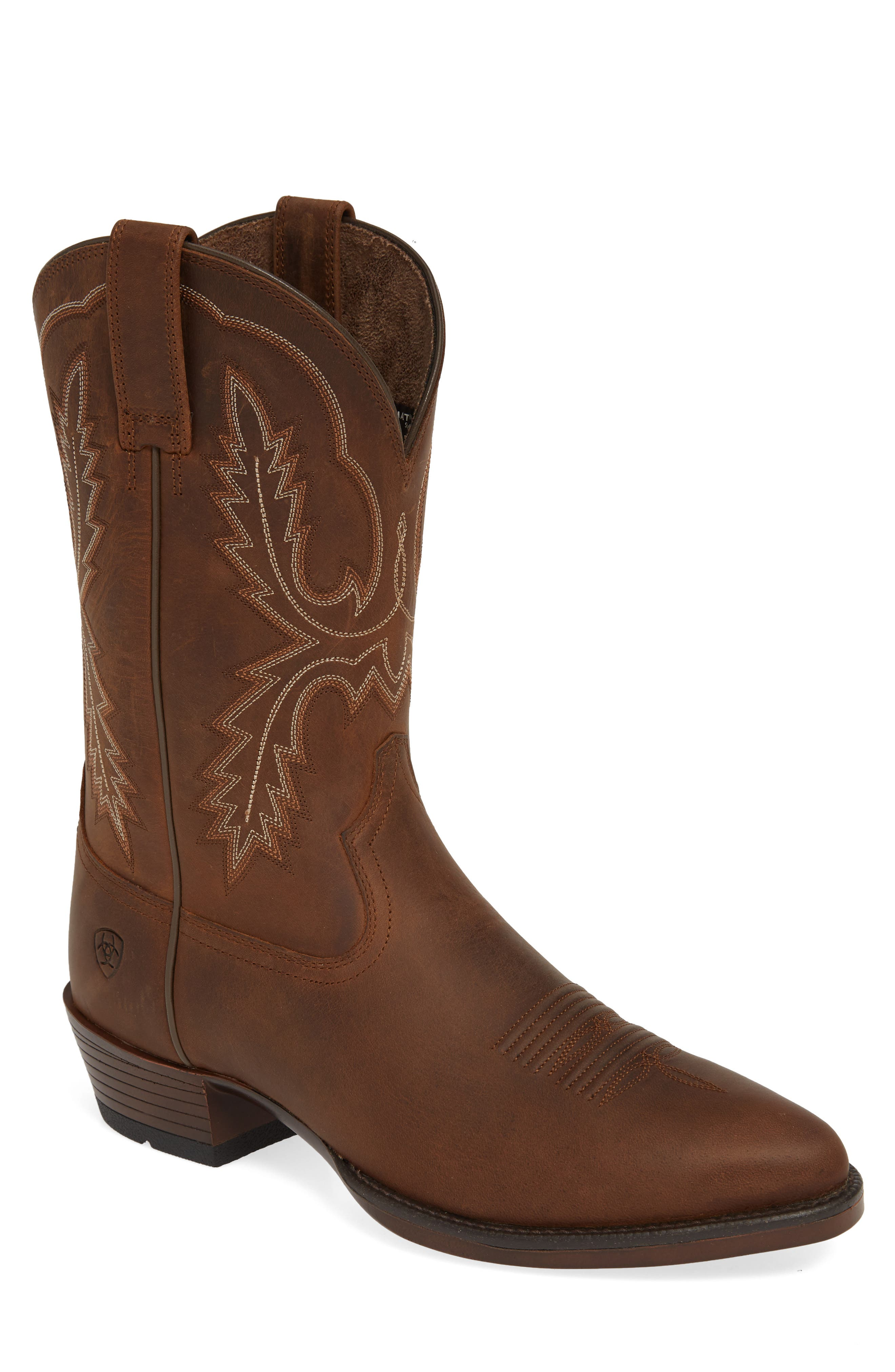 ARIAT, Bar Sour Cowboy Boot, Main thumbnail 1, color, DISTRESSED BROWN LEATHER