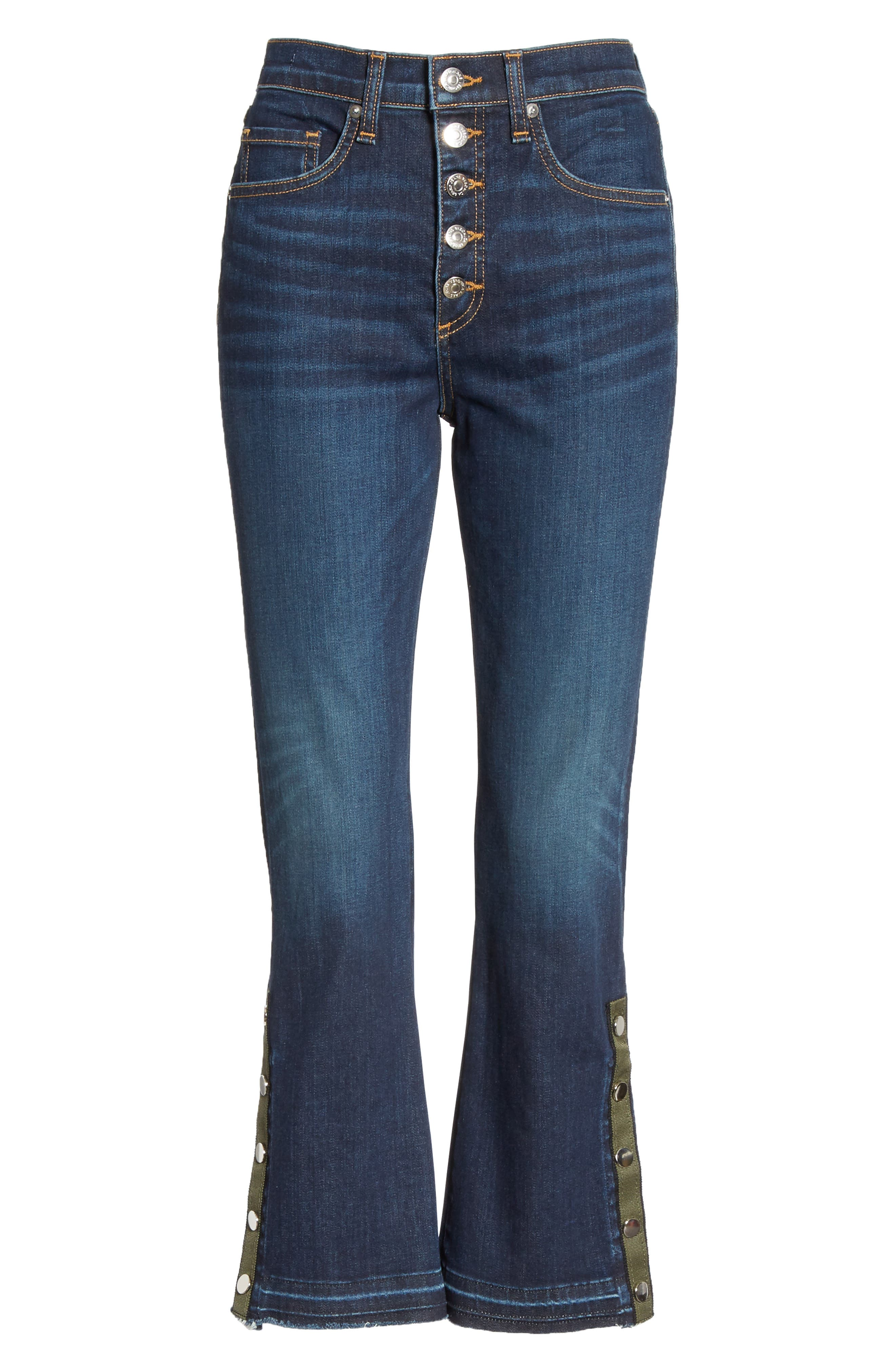 VERONICA BEARD, Carolyn Side Vent Baby Boot Jeans, Alternate thumbnail 7, color, DARK VINTAGE