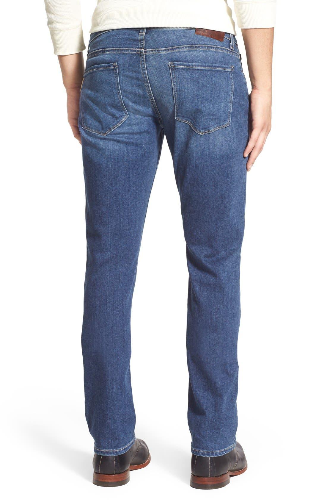 PAIGE, Transcend - Normandie Straight Leg Jeans, Alternate thumbnail 8, color, BIRCH