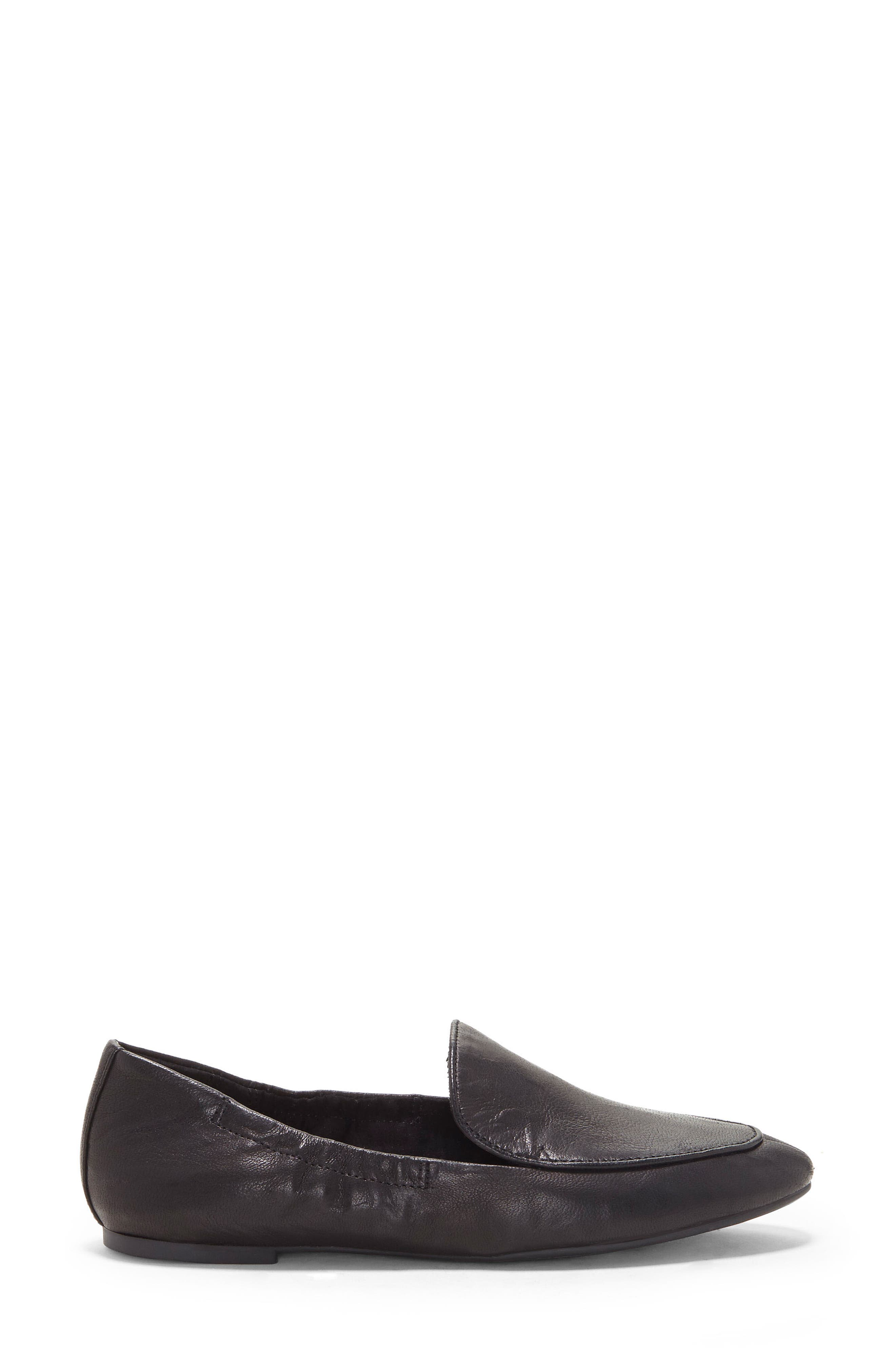 LUCKY BRAND, Bellana Loafer, Alternate thumbnail 3, color, BLACK LEATHER