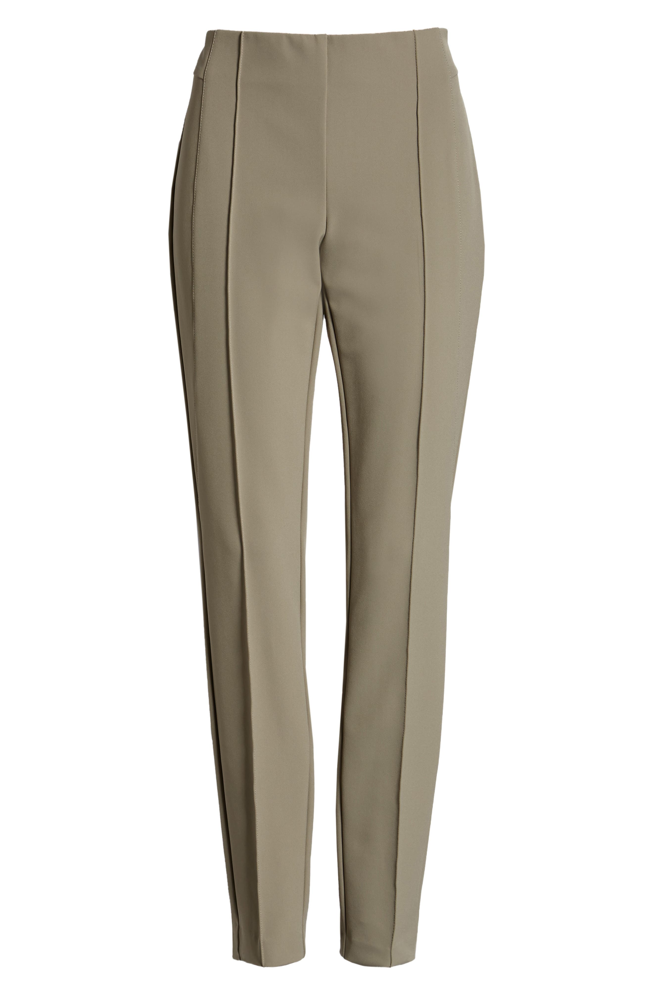 LAFAYETTE 148 NEW YORK, 'Gramercy' Acclaimed Stretch Pants, Alternate thumbnail 7, color, PARTRIDGE