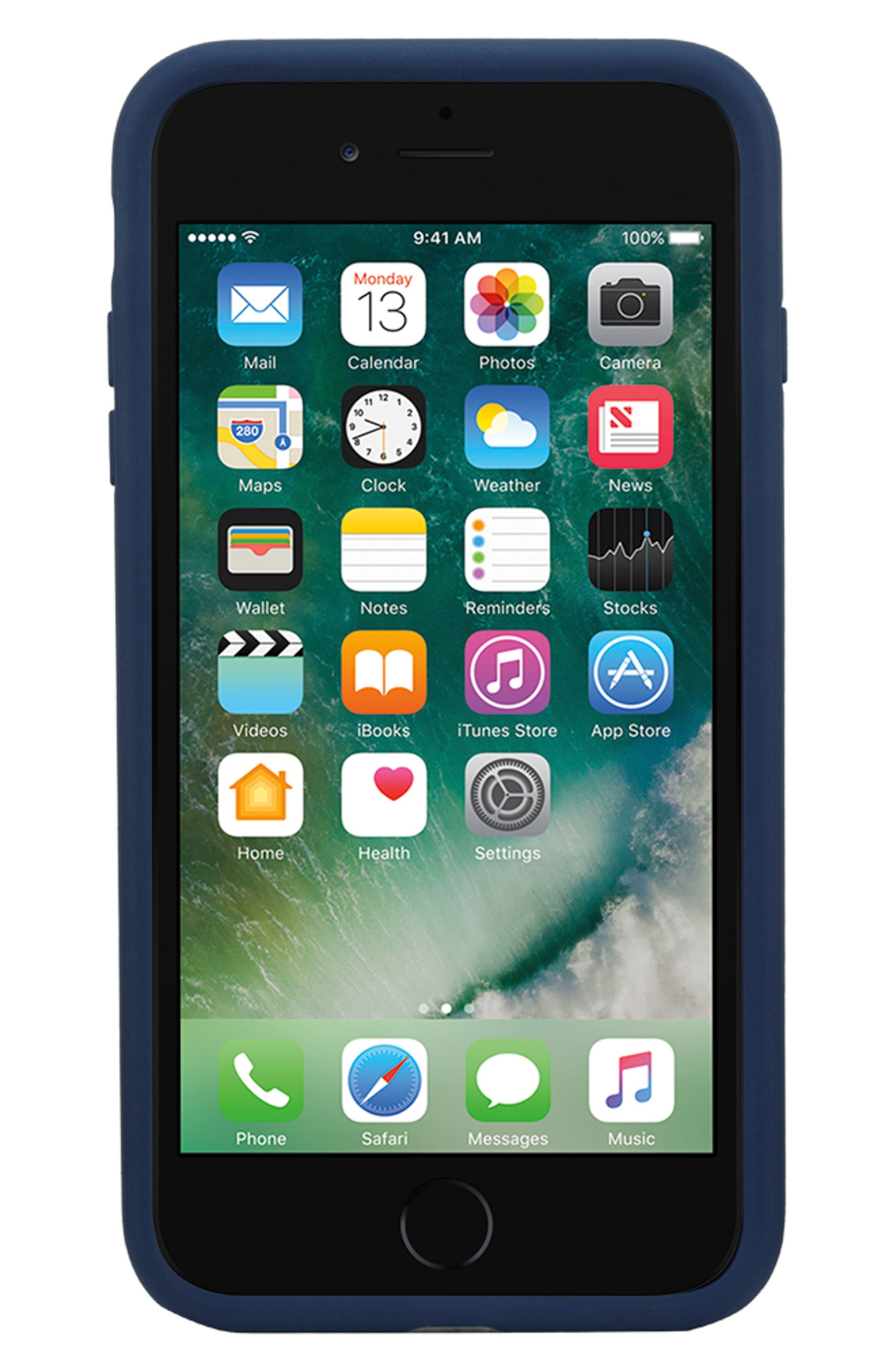 INCASE DESIGNS, Pop Tint iPhone 7/8 Plus Case, Alternate thumbnail 3, color, NAVY