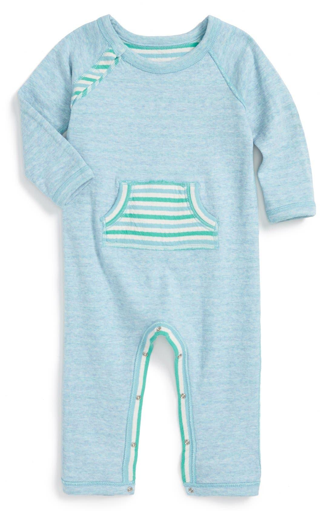 STEM BABY, Reversible Organic Cotton Romper, Alternate thumbnail 2, color, 450