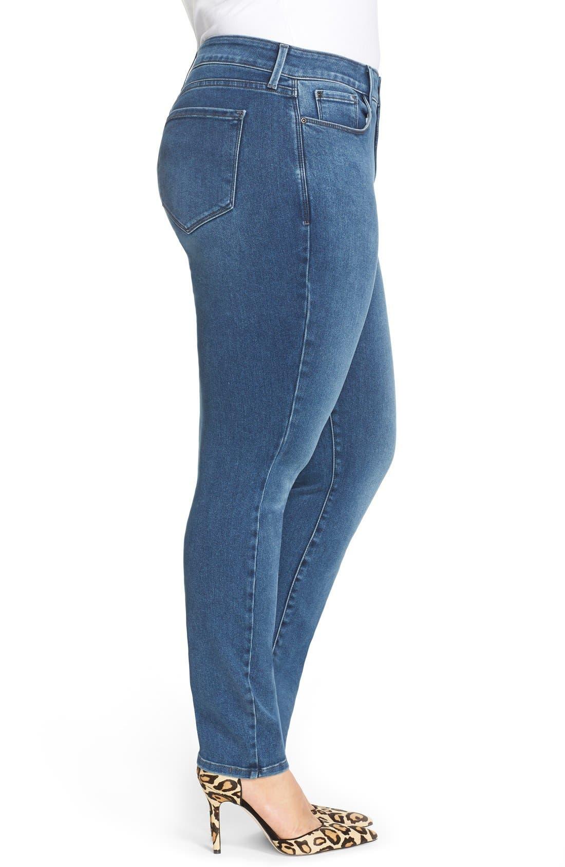 NYDJ, 'Alina' Stretch Skinny Jeans, Alternate thumbnail 3, color, 461