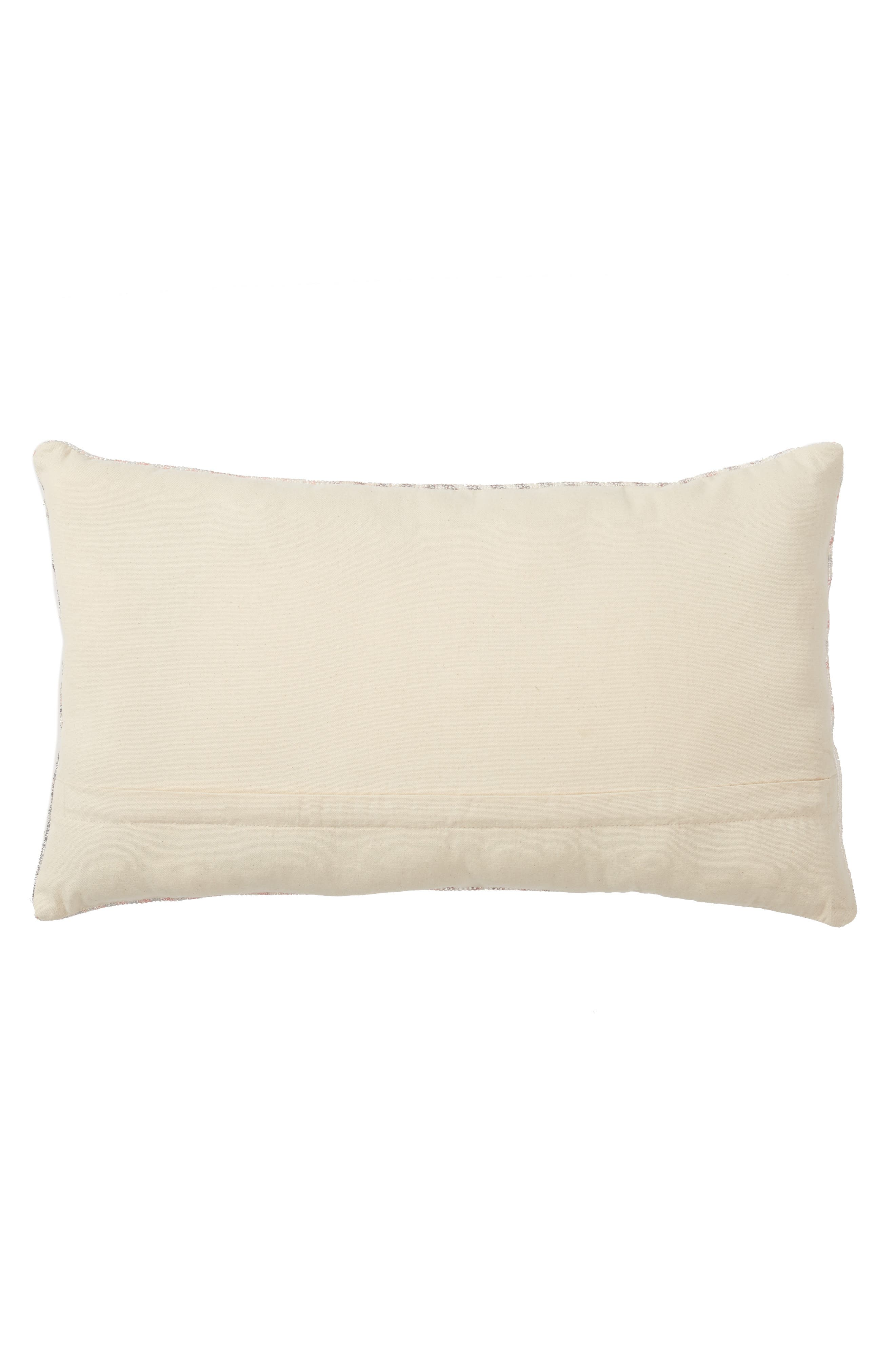 NORDSTROM AT HOME, Kilim Shine Accent Pillow, Alternate thumbnail 2, color, PINK LINEN MULTI