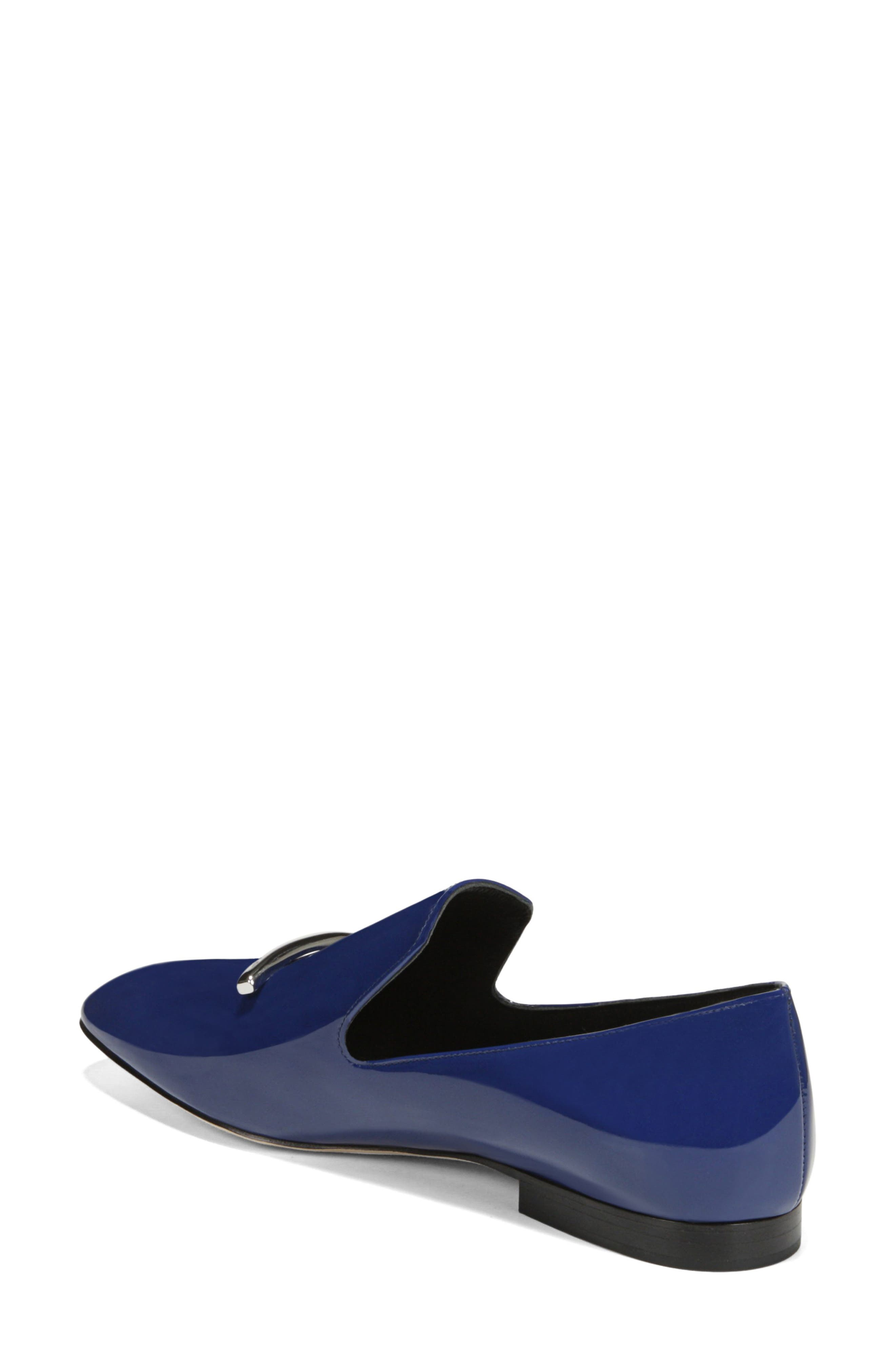VIA SPIGA, Tallis Flat Loafer, Alternate thumbnail 2, color, POP BLUE