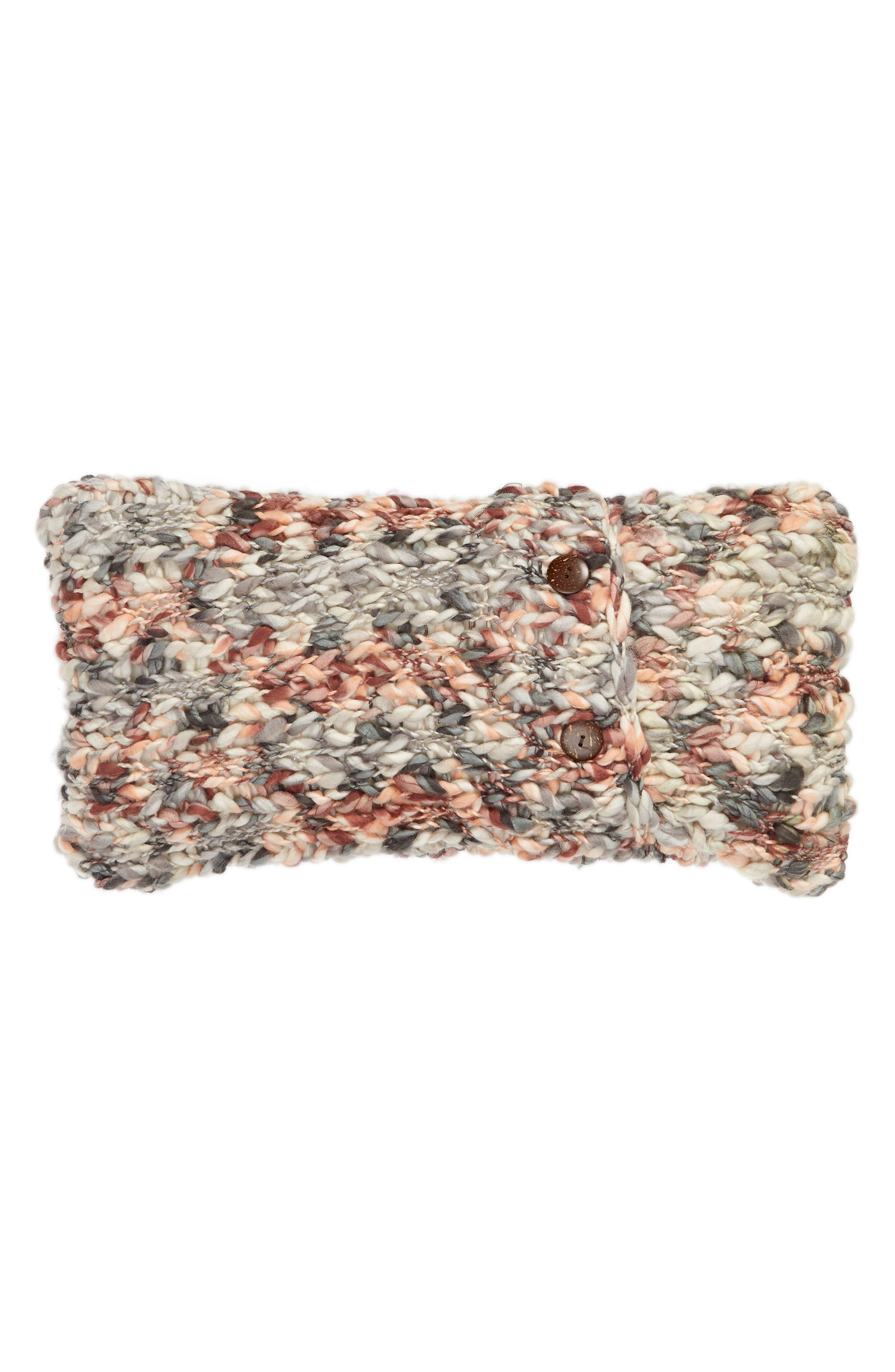 TREASURE & BOND, Slub Knit Accent Pillow, Alternate thumbnail 2, color, BROWN ROSE MULTI