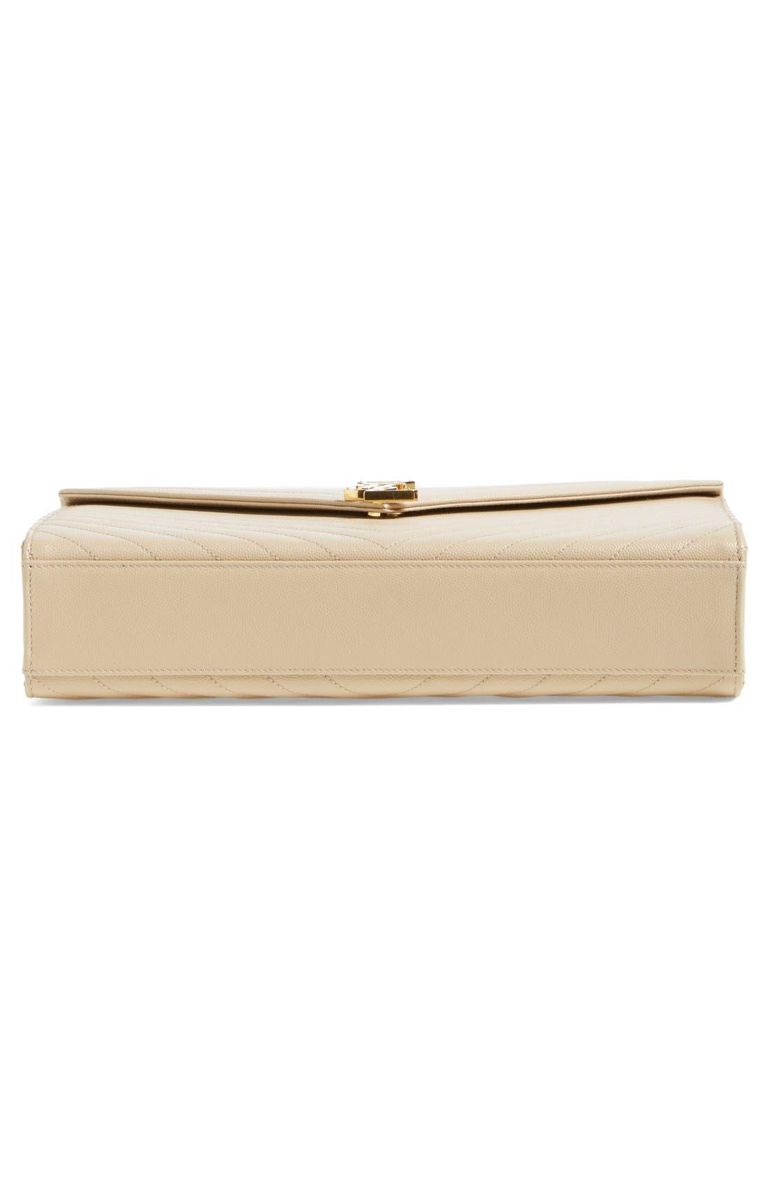SAINT LAURENT, 'Large Monogram' Grained Leather Shoulder Bag, Alternate thumbnail 6, color, 251