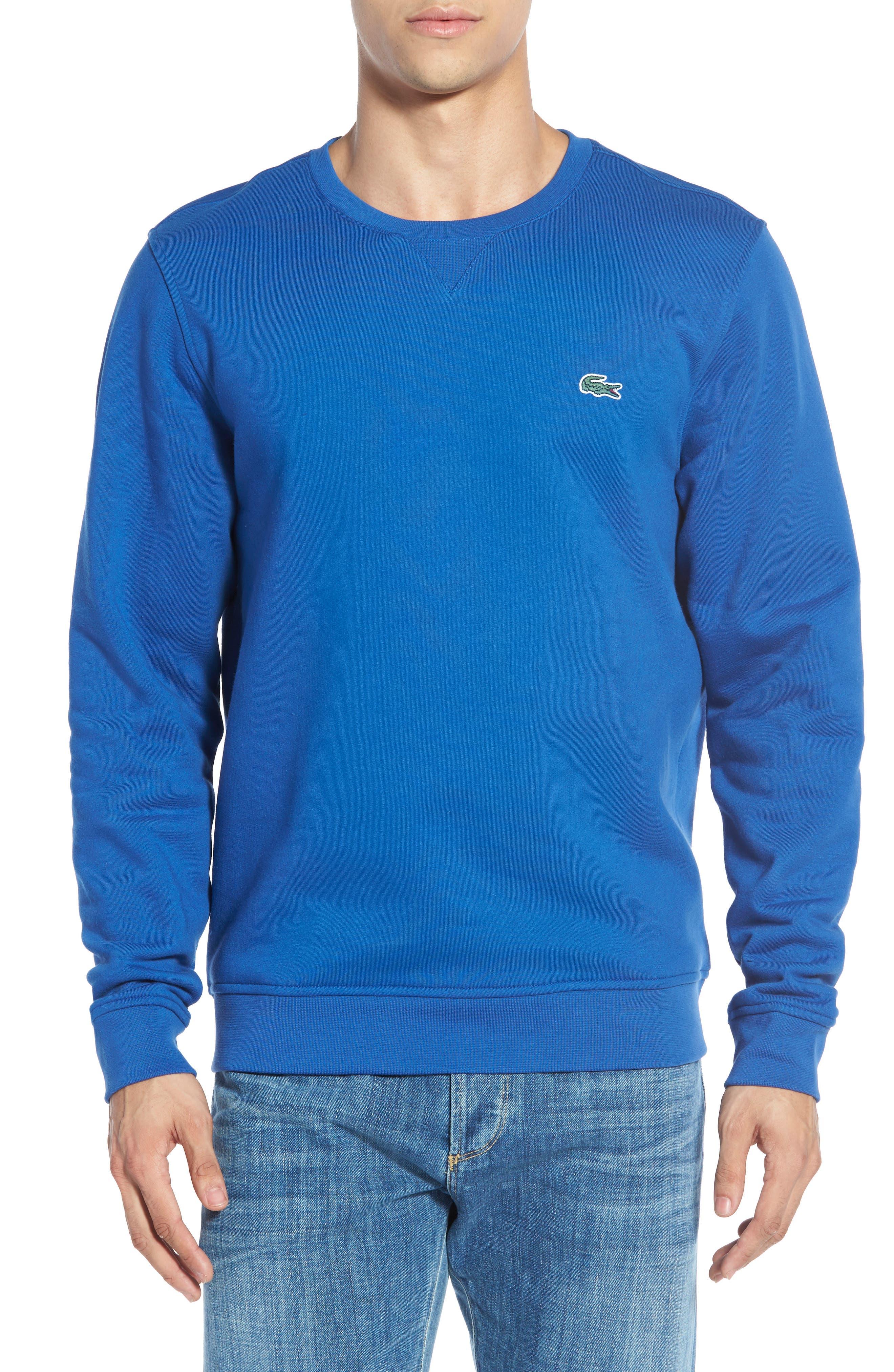 LACOSTE, 'Sport' Crewneck Sweatshirt, Main thumbnail 1, color, NAVY