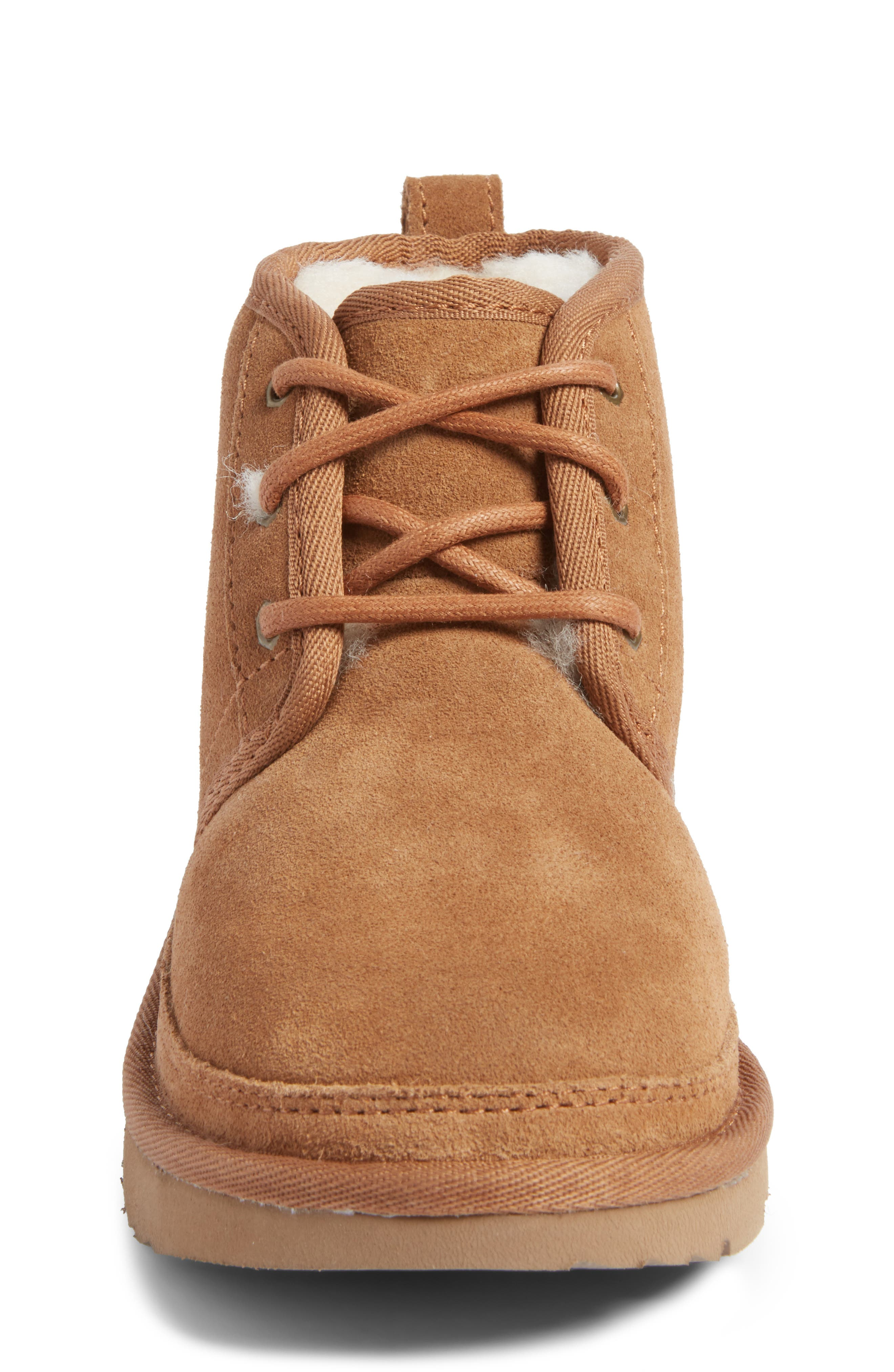 UGG<SUP>®</SUP>, Neumel II Water Resistant Chukka Boot, Alternate thumbnail 4, color, CHESTNUT BROWN