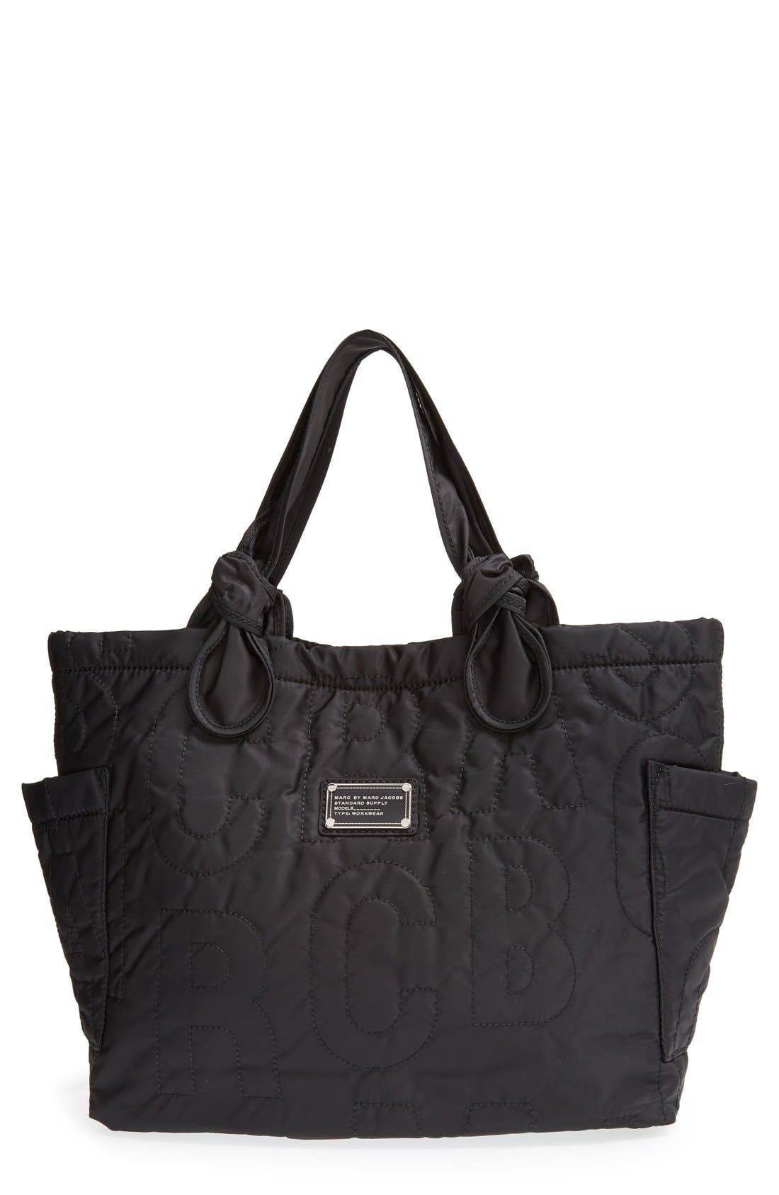 MARC JACOBS MARC BY MARC JACOBS 'Medium Pretty Nylon Tate' Tote, Main, color, 001