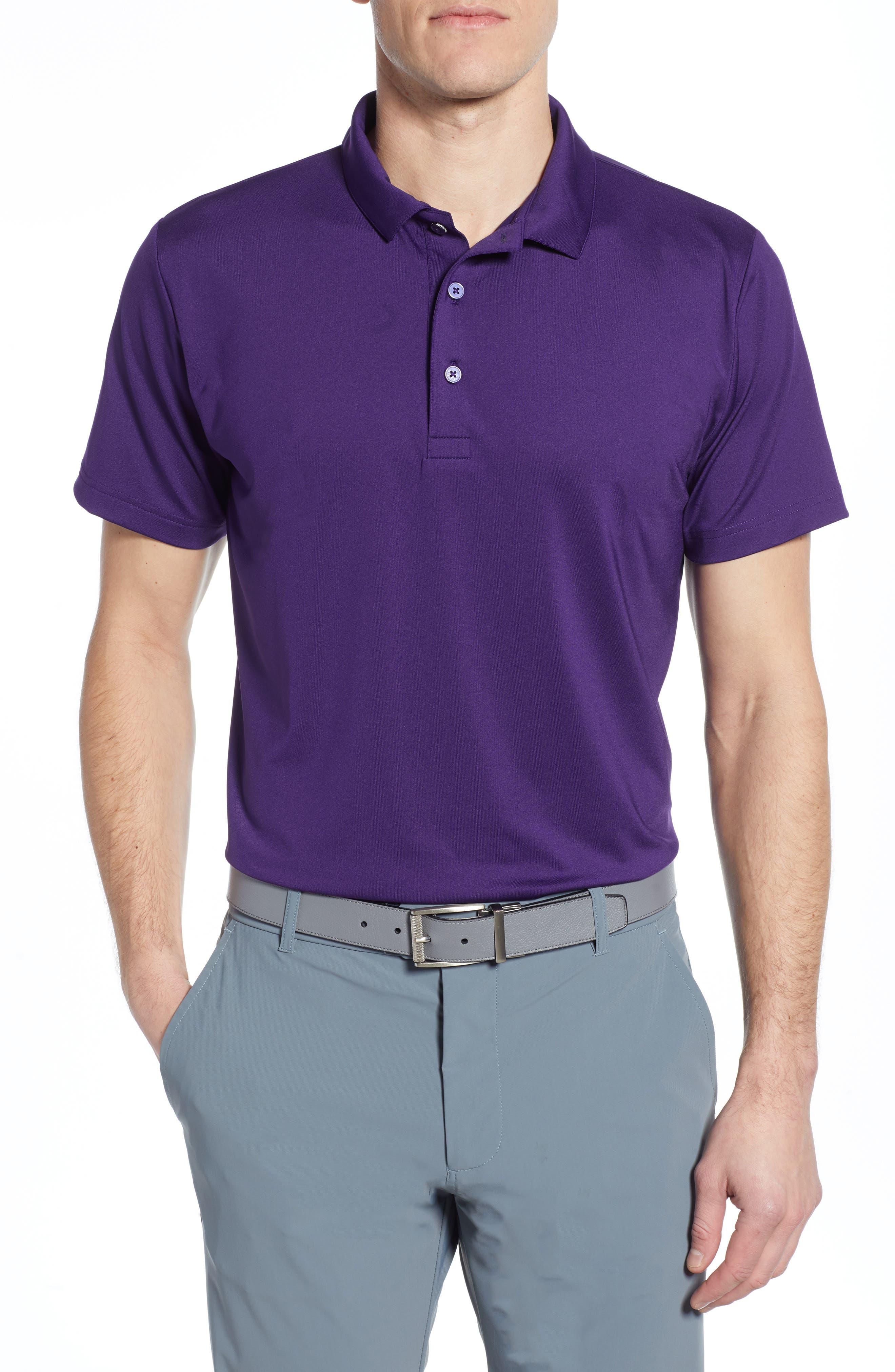 MIZZEN+MAIN, Phil Mickelson Performance Golf Polo, Main thumbnail 1, color, PURPLE