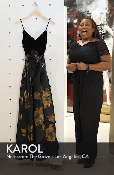 Metallic Print Gown, sales video thumbnail