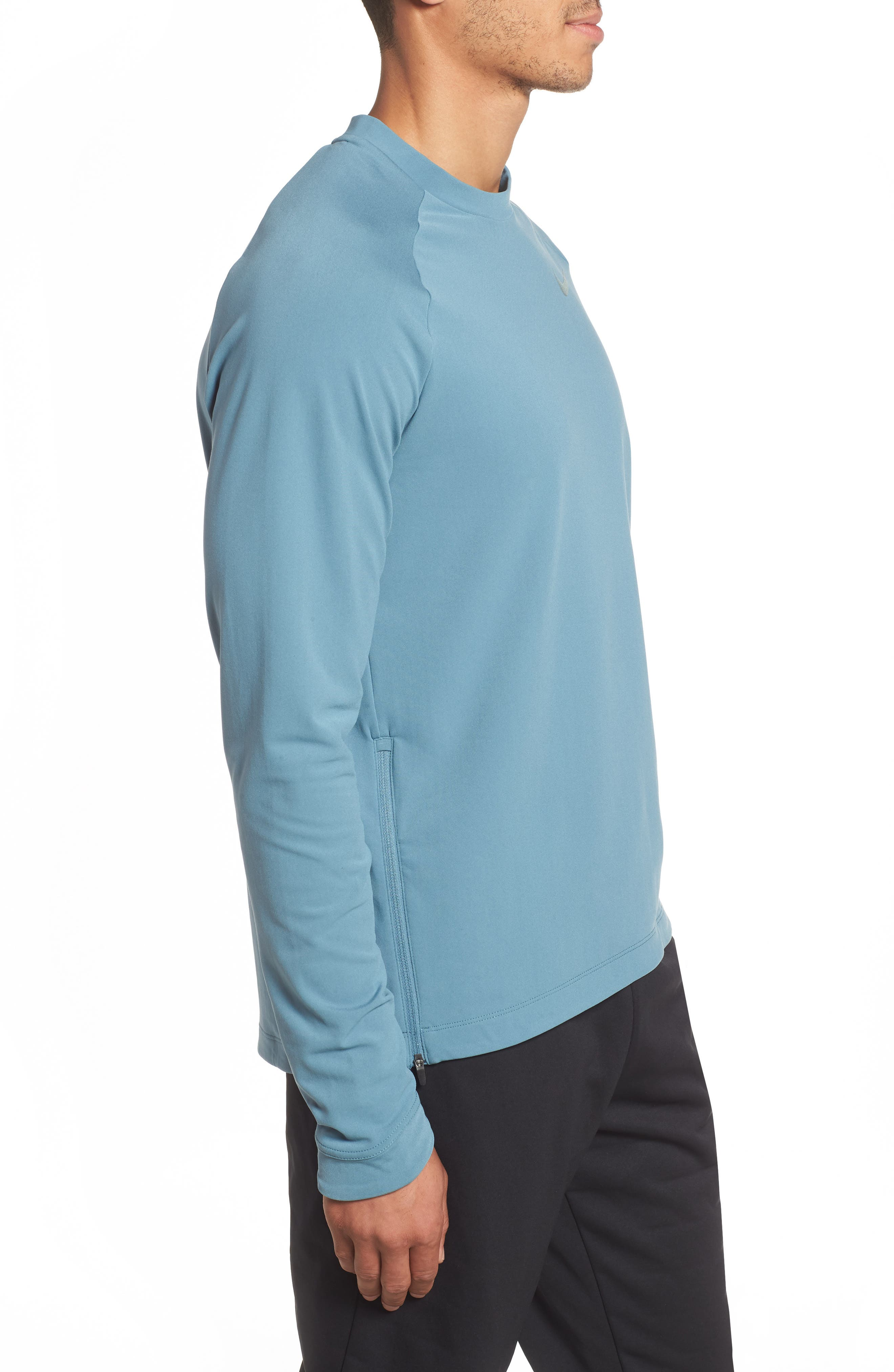 NIKE, Thermal Crewneck, Alternate thumbnail 3, color, CELESTIAL TEAL