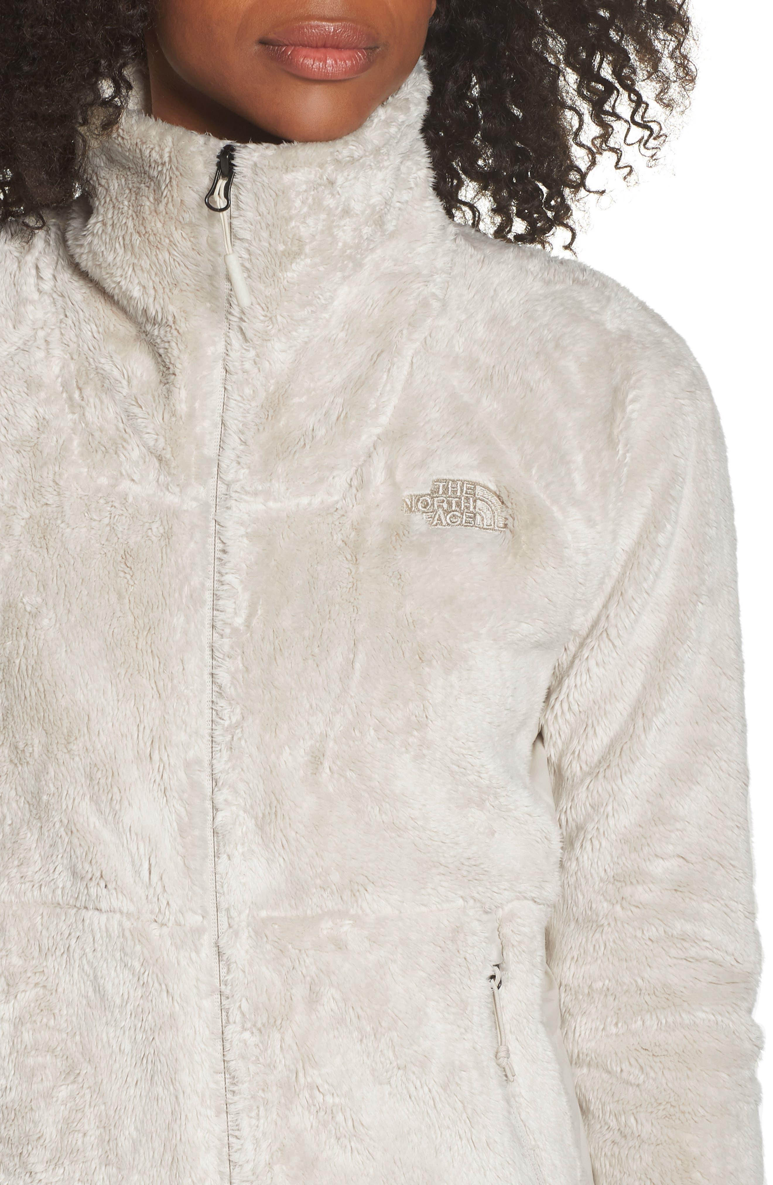 THE NORTH FACE, Osito Sport Hybrid Jacket, Alternate thumbnail 5, color, VINTAGE WHITE