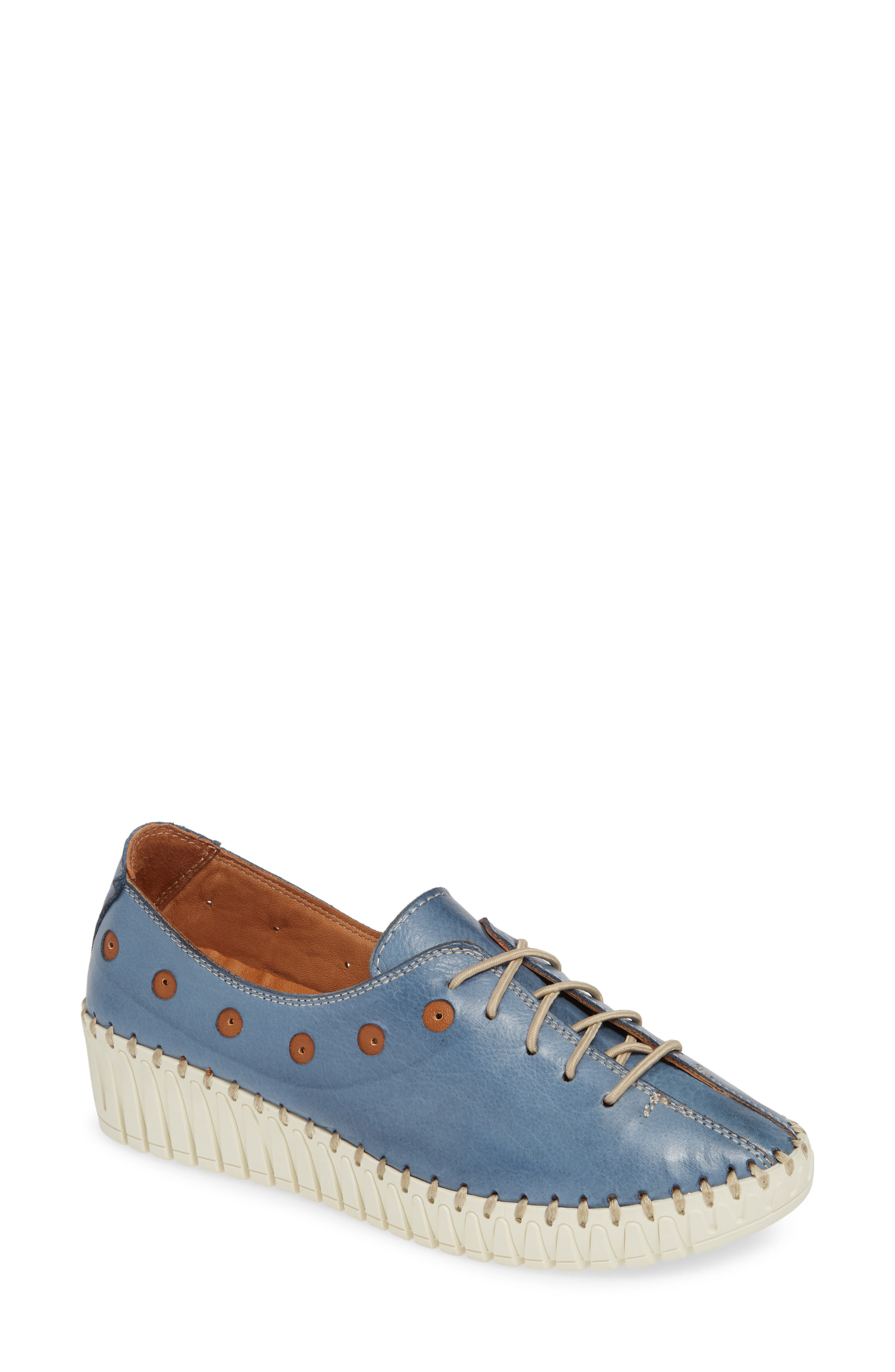 SHERIDAN MIA, Kyle Sneaker, Main thumbnail 1, color, JEANS LEATHER