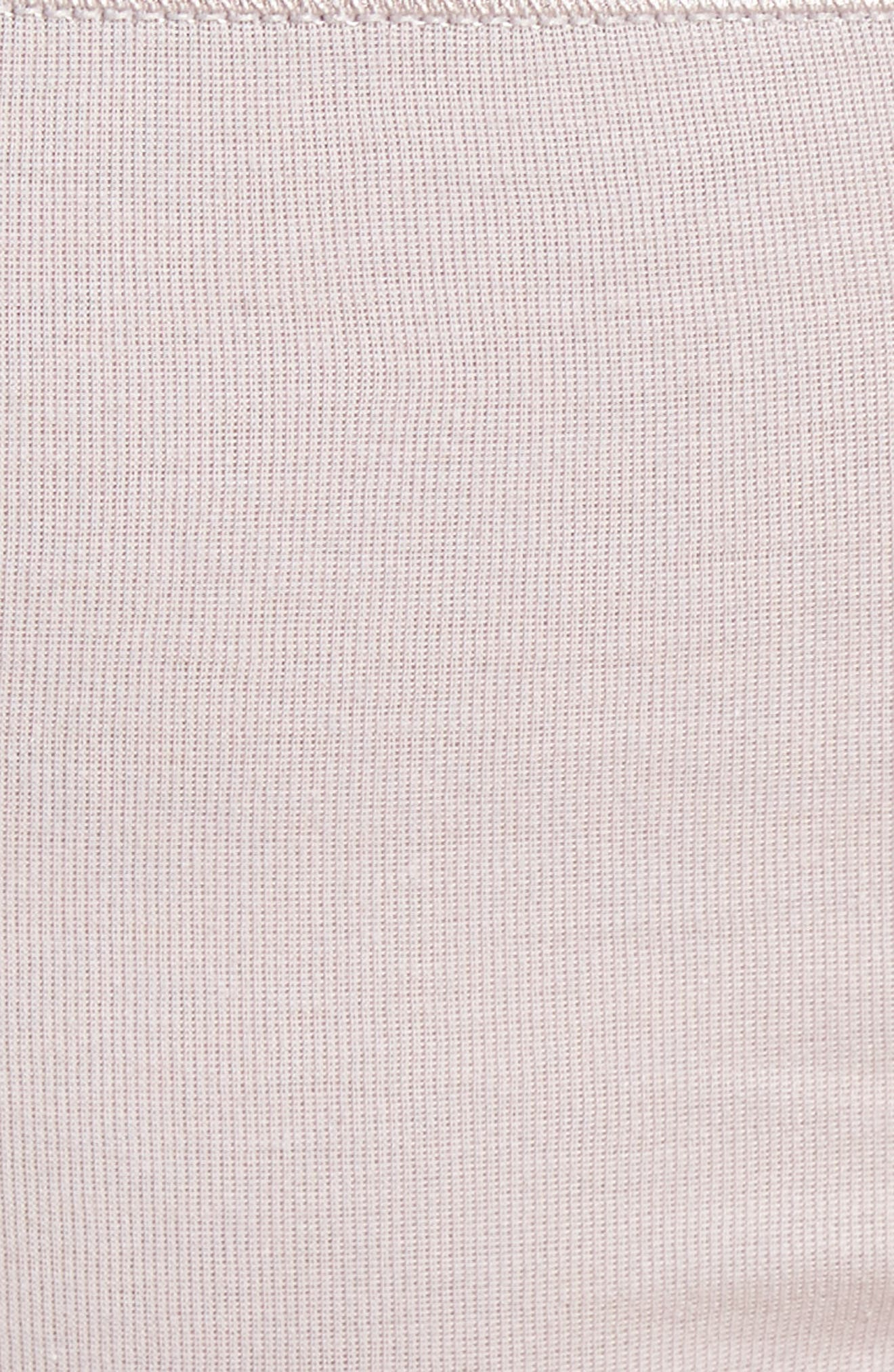 HANRO, Seamless Cotton High Cut Briefs, Alternate thumbnail 4, color, PASTEL GREY 1321