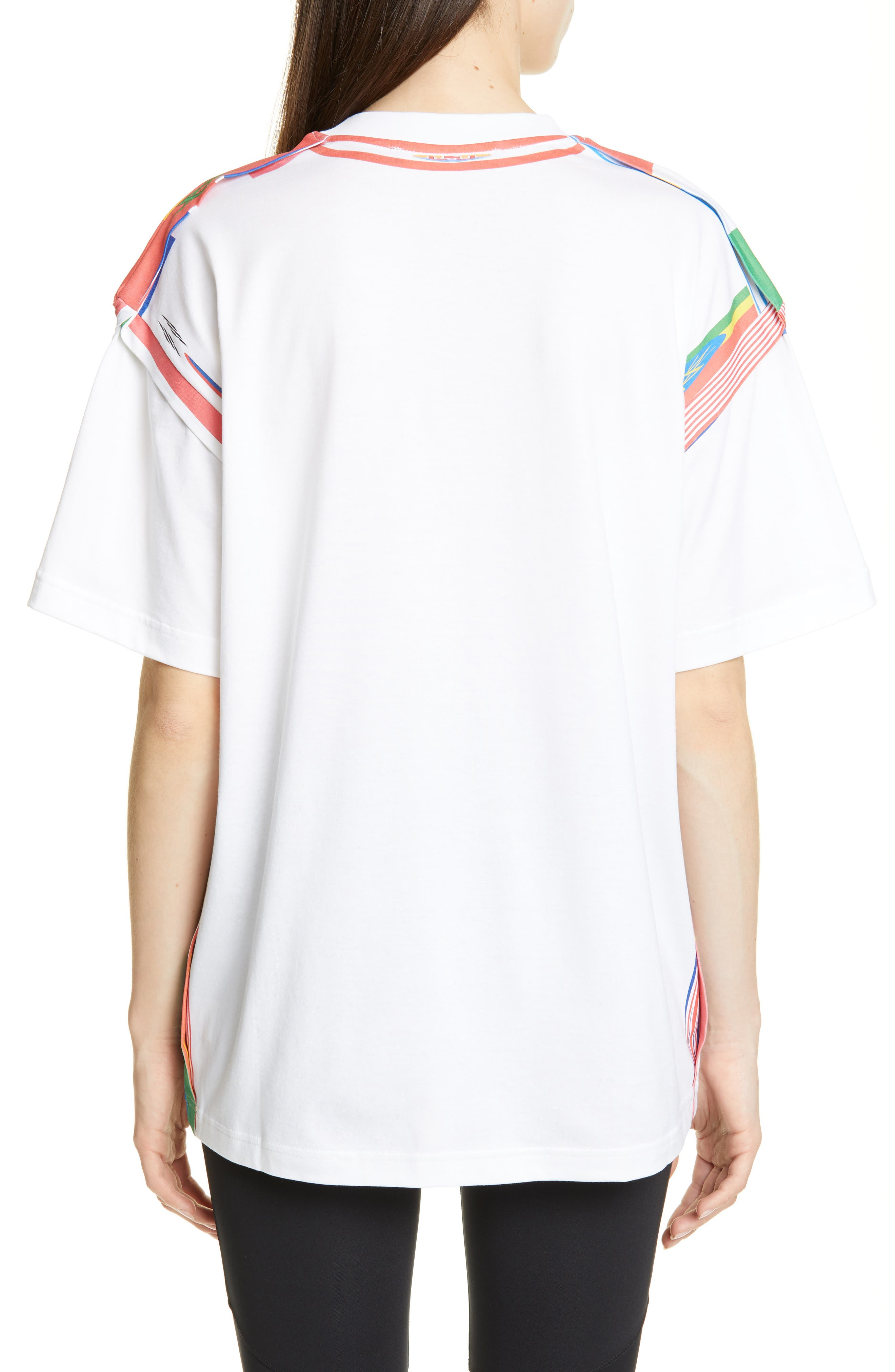 Y/PROJECT, Flag Print Tee, Alternate thumbnail 2, color, WHITE