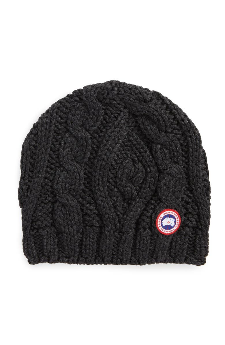 2a1c4d589f6 Canada Goose Cable Knit Merino Wool Beanie