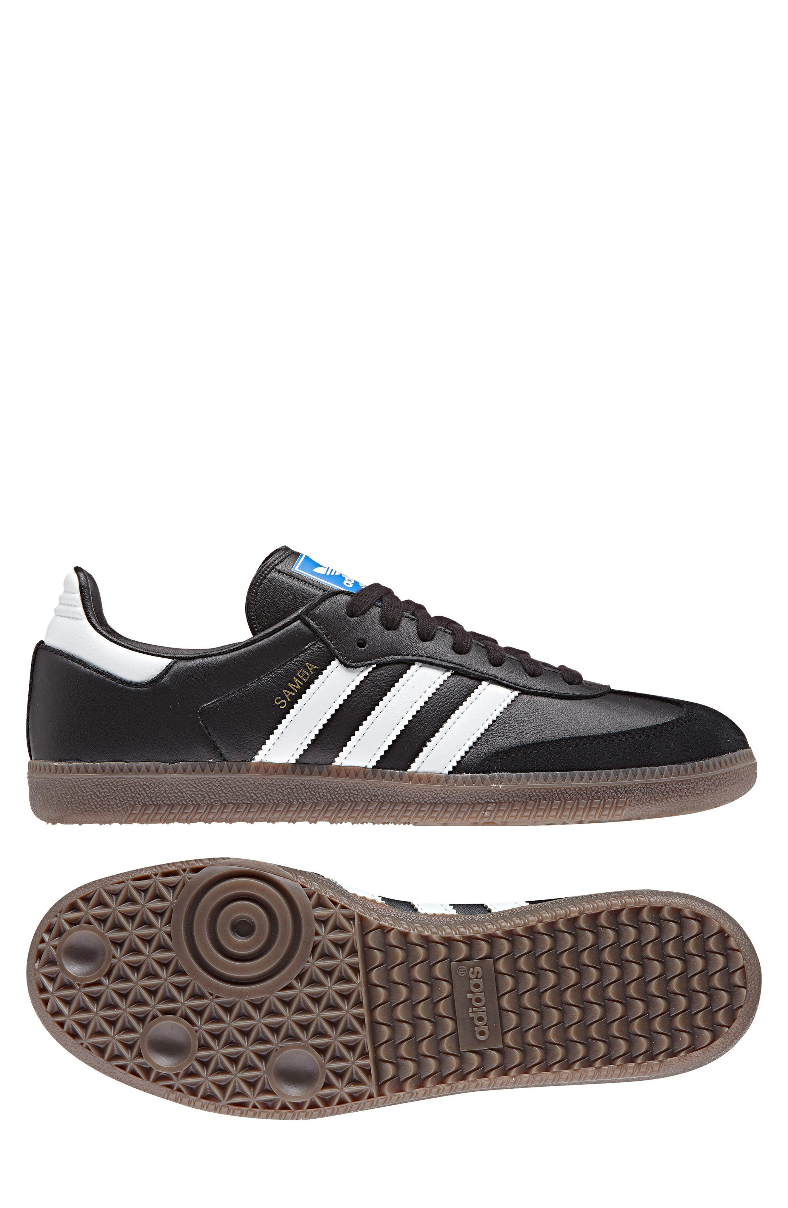 ADIDAS, Samba OG Sneaker, Alternate thumbnail 5, color, BLACK/ WHITE/ GUM