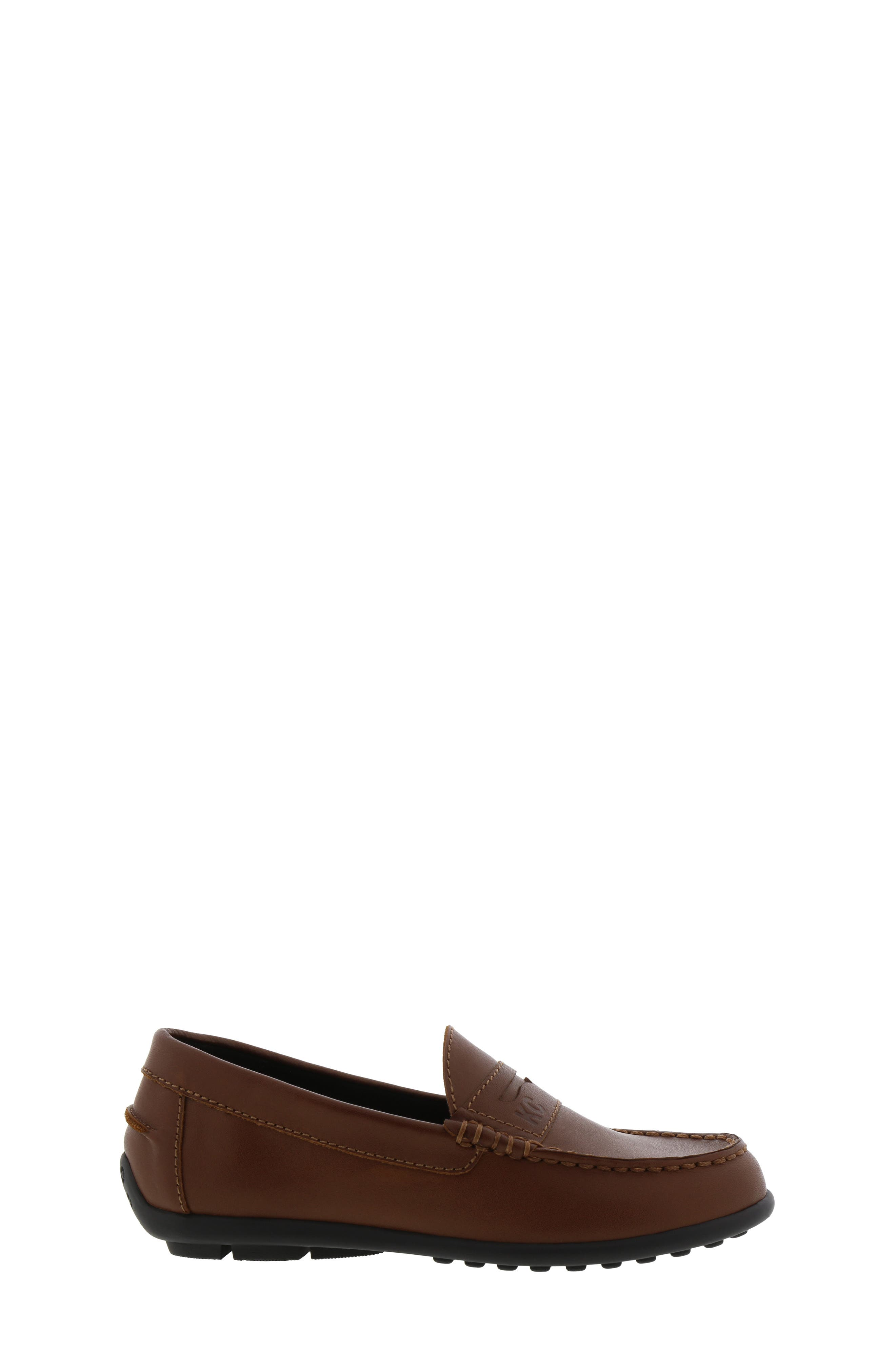 REACTION KENNETH COLE, Helio Gear Loafer, Alternate thumbnail 3, color, COGNAC