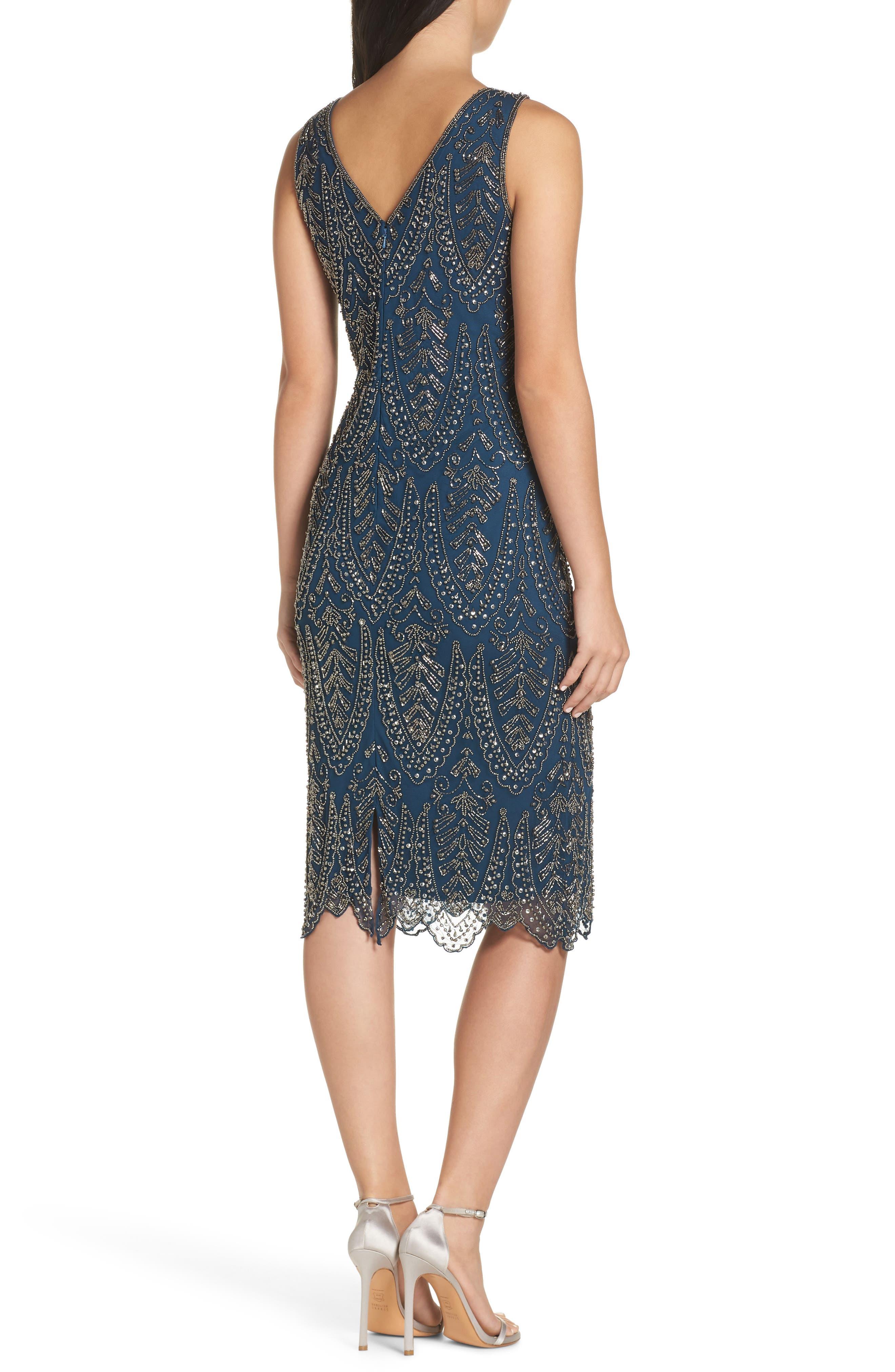 PISARRO NIGHTS, Middy Zigzag Sheath Dress, Alternate thumbnail 2, color, 400