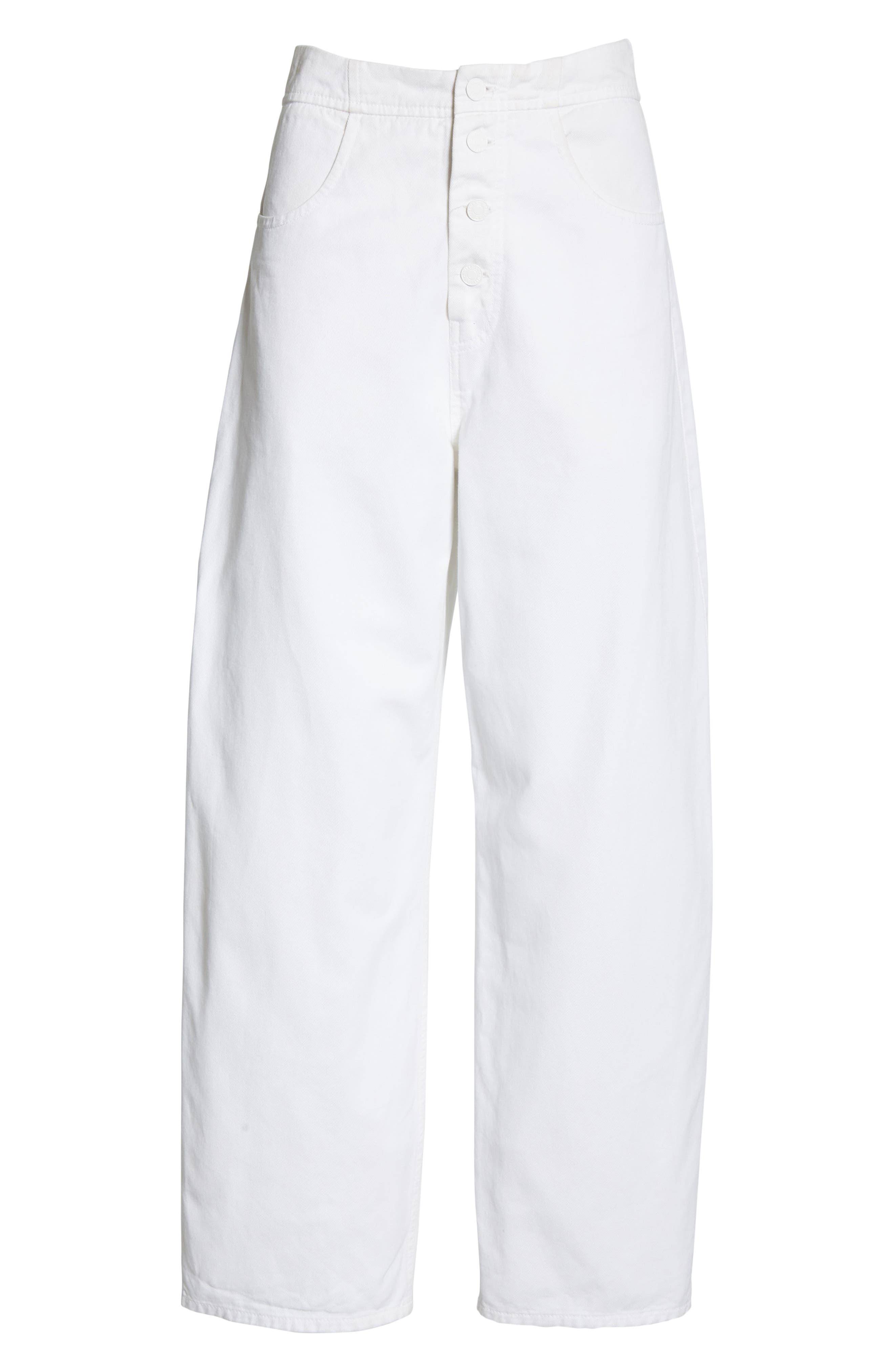 NILI LOTAN, Toledo Crop Cotton Pants, Alternate thumbnail 7, color, VINTAGE WHITE