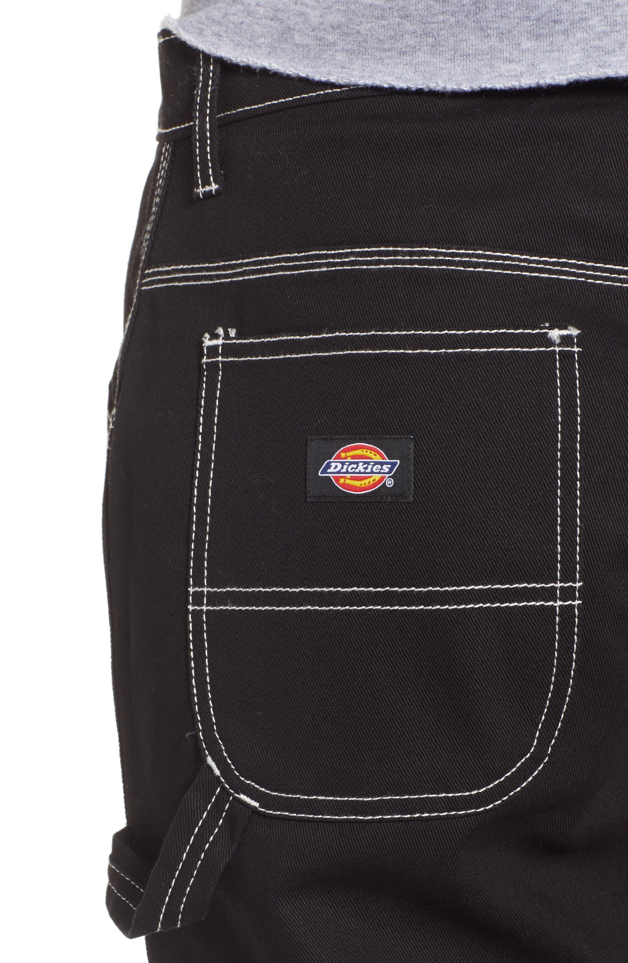 DICKIES, Relaxed Fit Carpenter Pants, Alternate thumbnail 5, color, BLACK