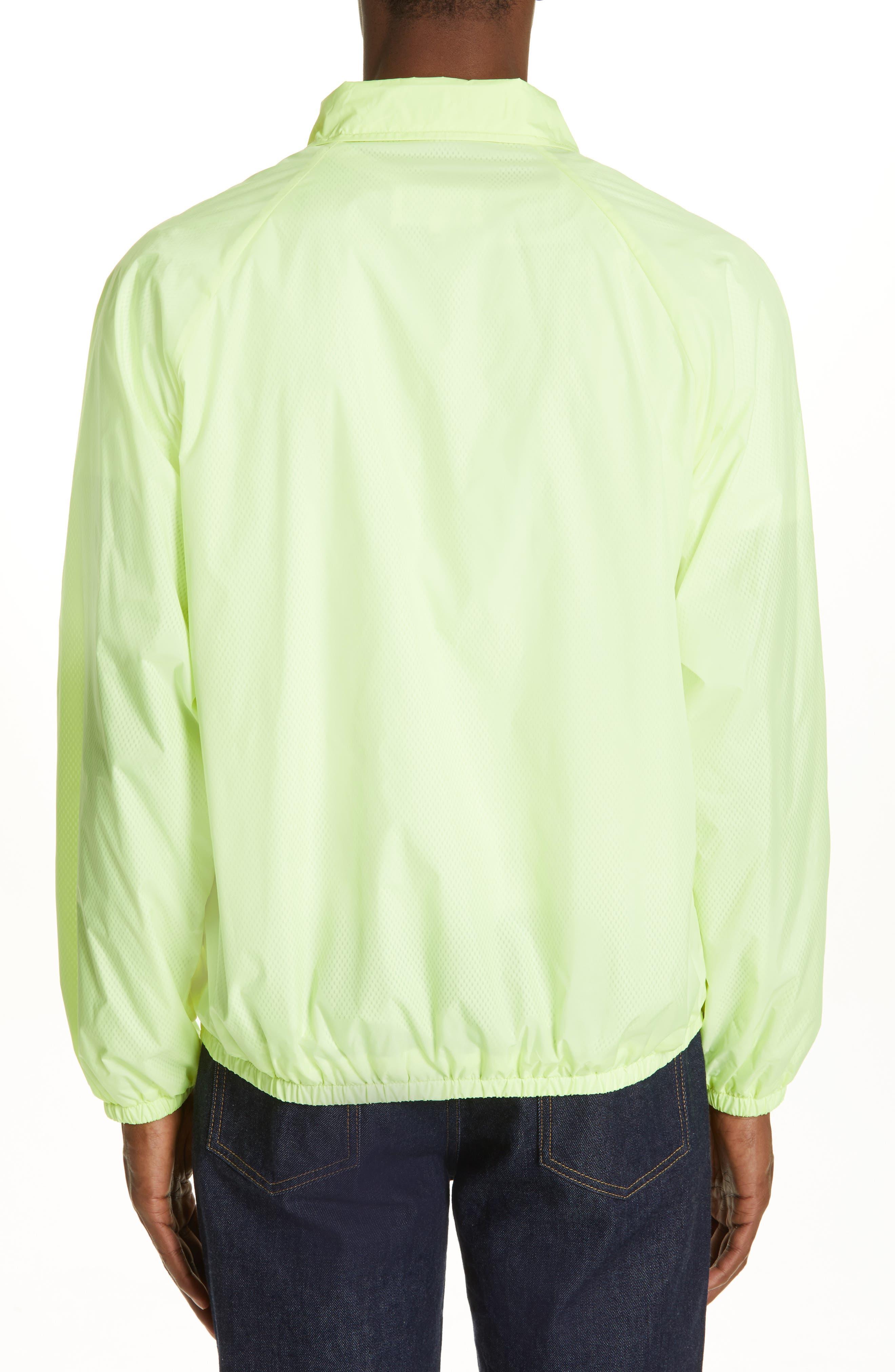 MAISON MARGIELA, Stereotype Coach's Jacket, Alternate thumbnail 2, color, NEON YELLOW