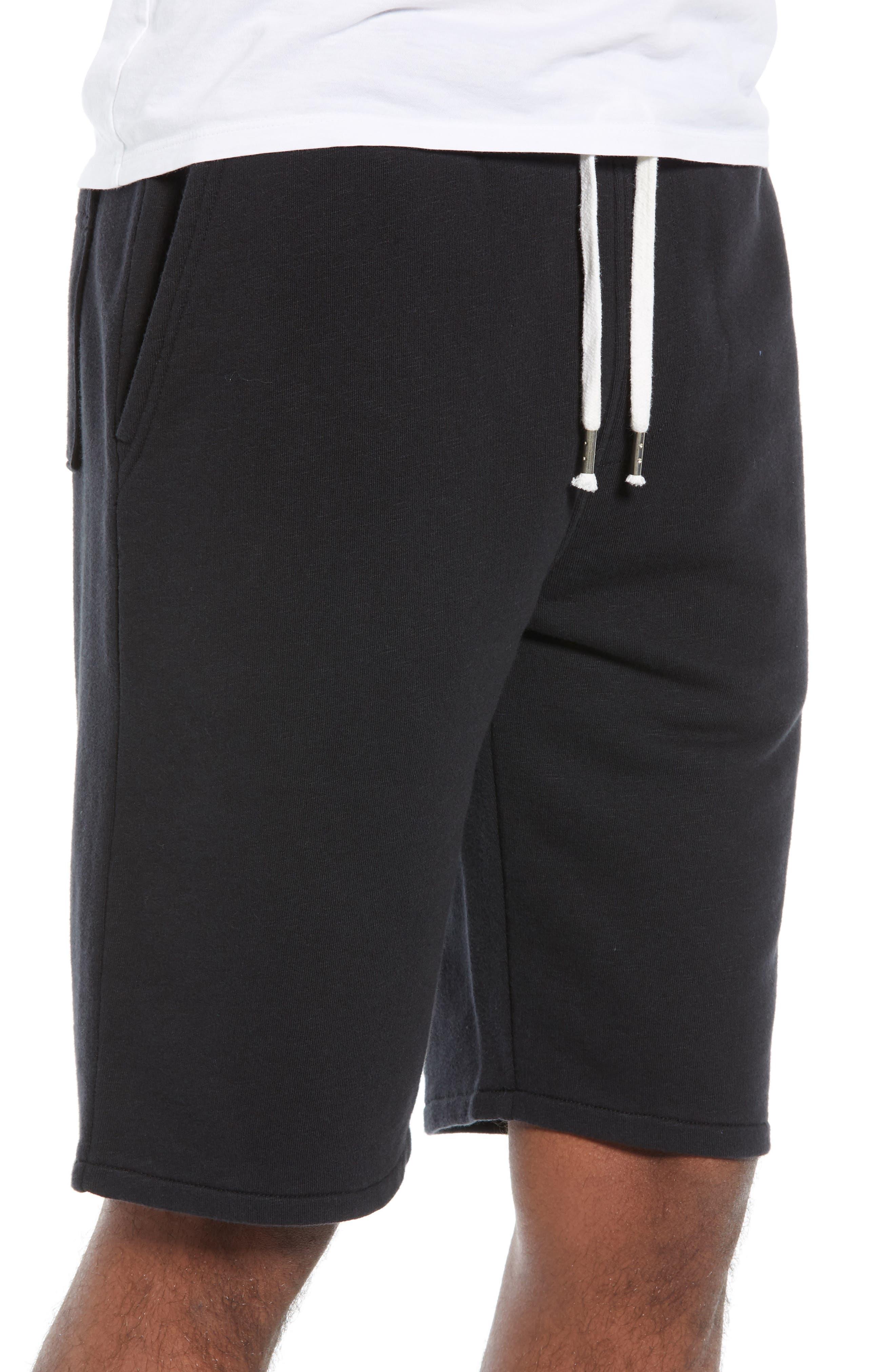 THE RAIL, Terry Athletic Shorts, Alternate thumbnail 3, color, BLACK ROCK