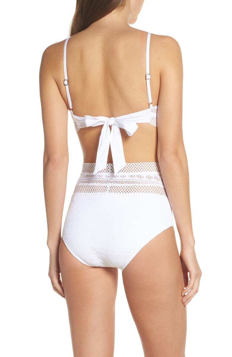 b55fa451e4509 Becca Captured High Waist Bikini Bottoms In White | ModeSens