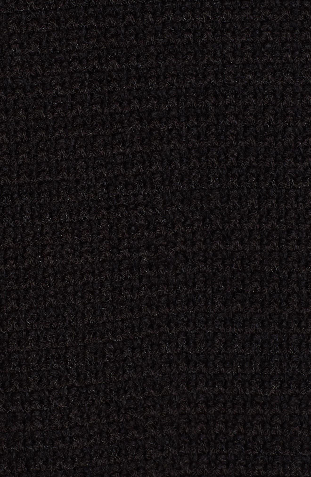 NIC+ZOE, Fringe Mix Jacket, Alternate thumbnail 7, color, BLACK ONYX
