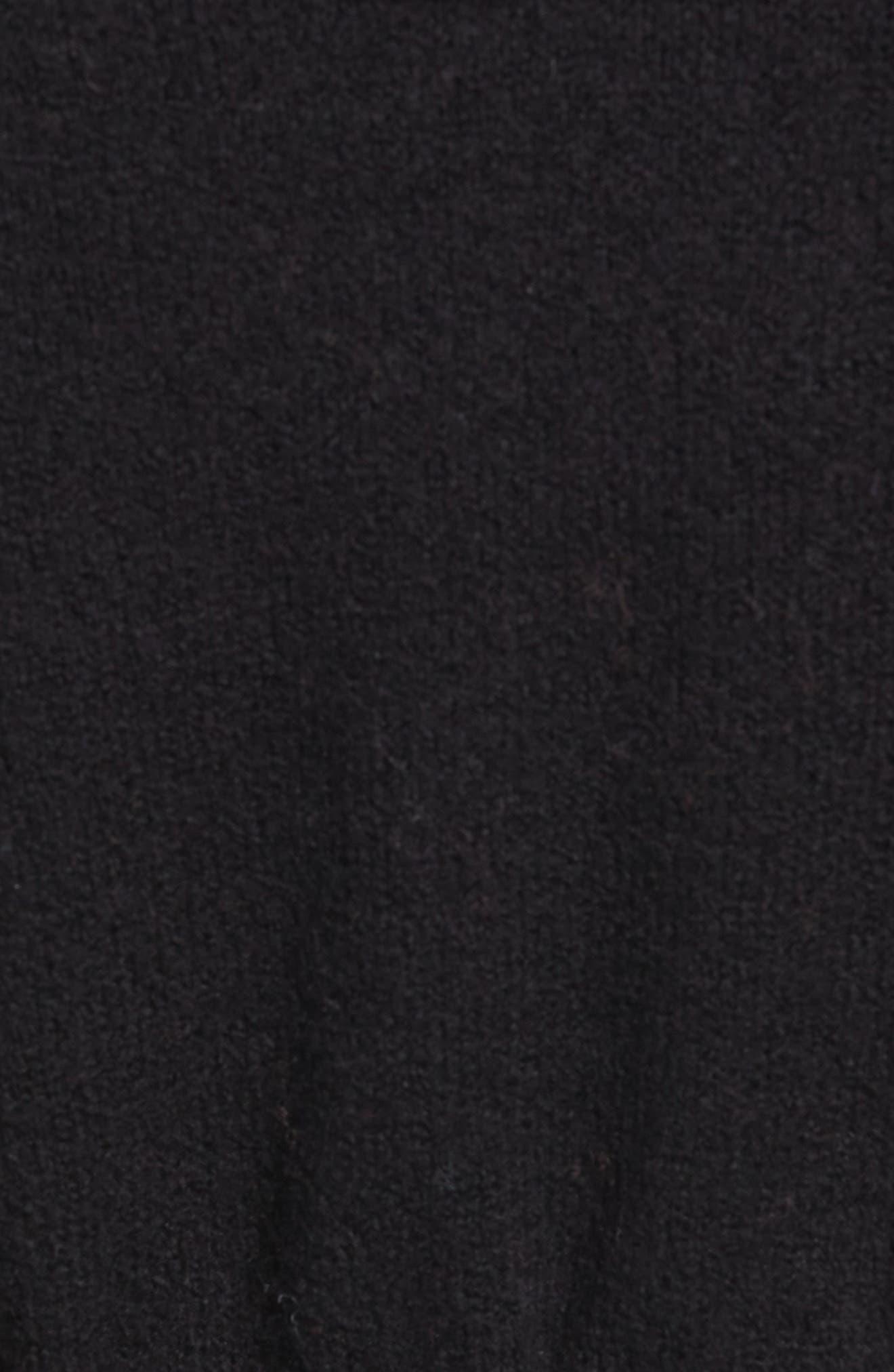 CASLON<SUP>®</SUP>, Hooded Cardigan, Alternate thumbnail 5, color, BLACK