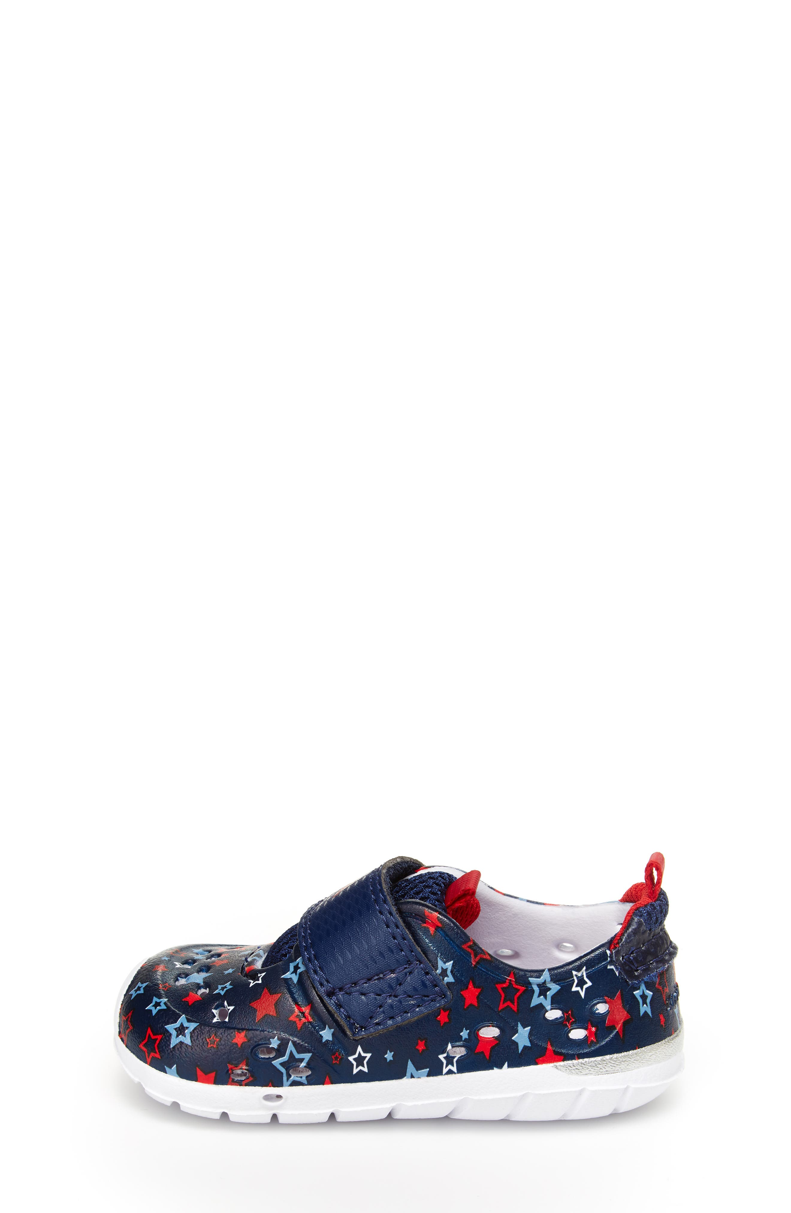 STRIDE RITE, Made2Play<sup>®</sup> Phibian Sneaker, Alternate thumbnail 8, color, NAVY STAR