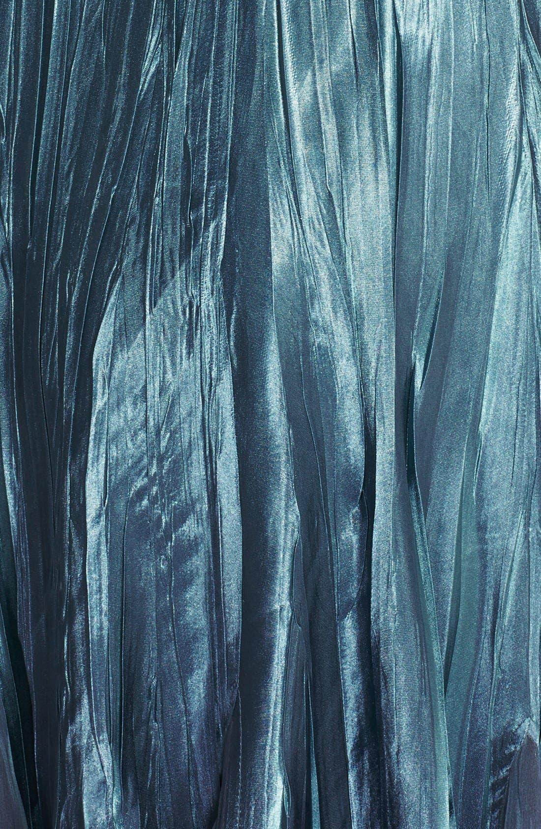 KOMAROV, Embellished Pleat Mixed Media Dress with Jacket, Alternate thumbnail 7, color, 405