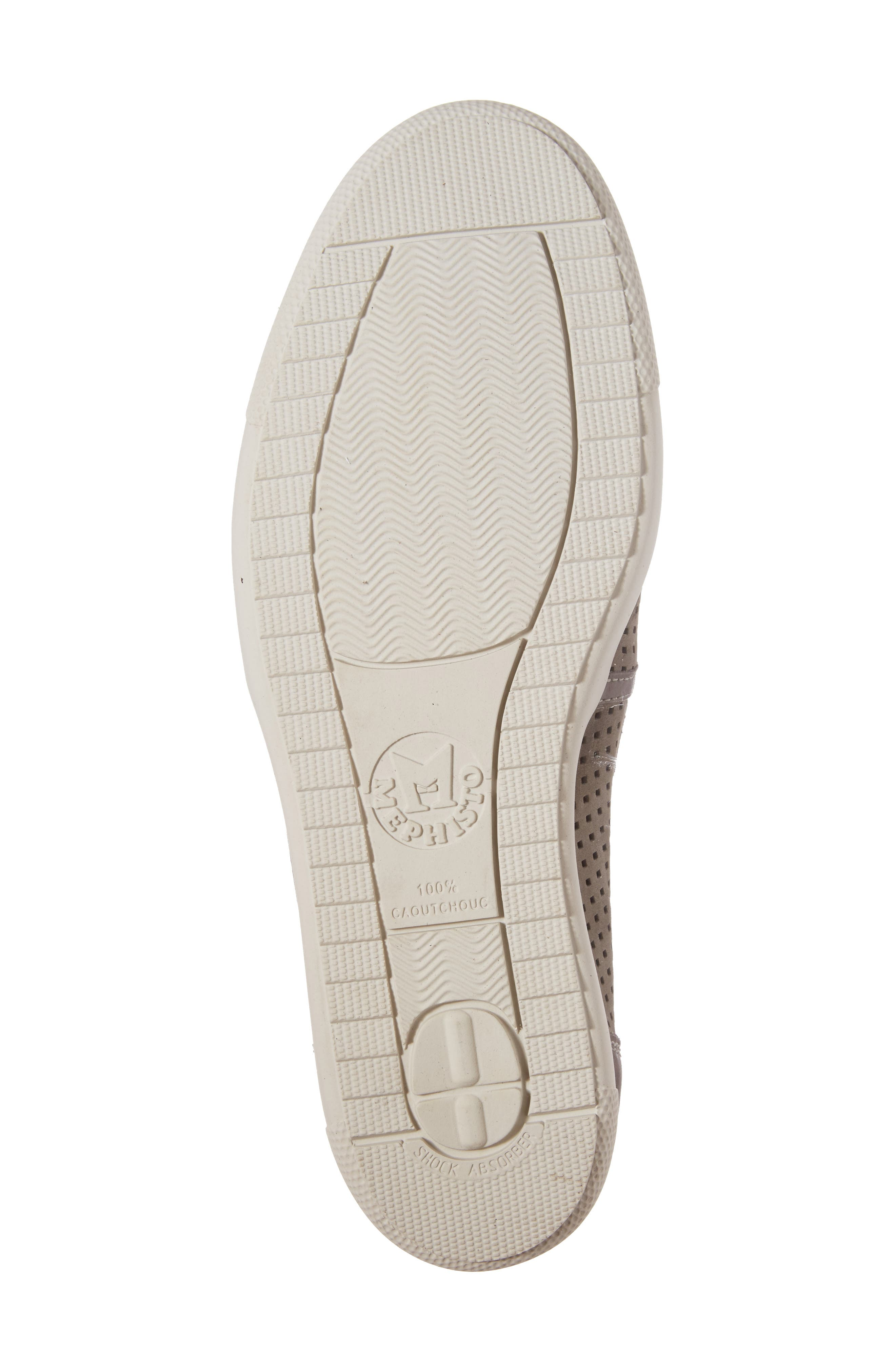 MEPHISTO, 'Ulrich' Perforated Leather Slip-On, Alternate thumbnail 6, color, LIGHT GREY SPORTBUCK