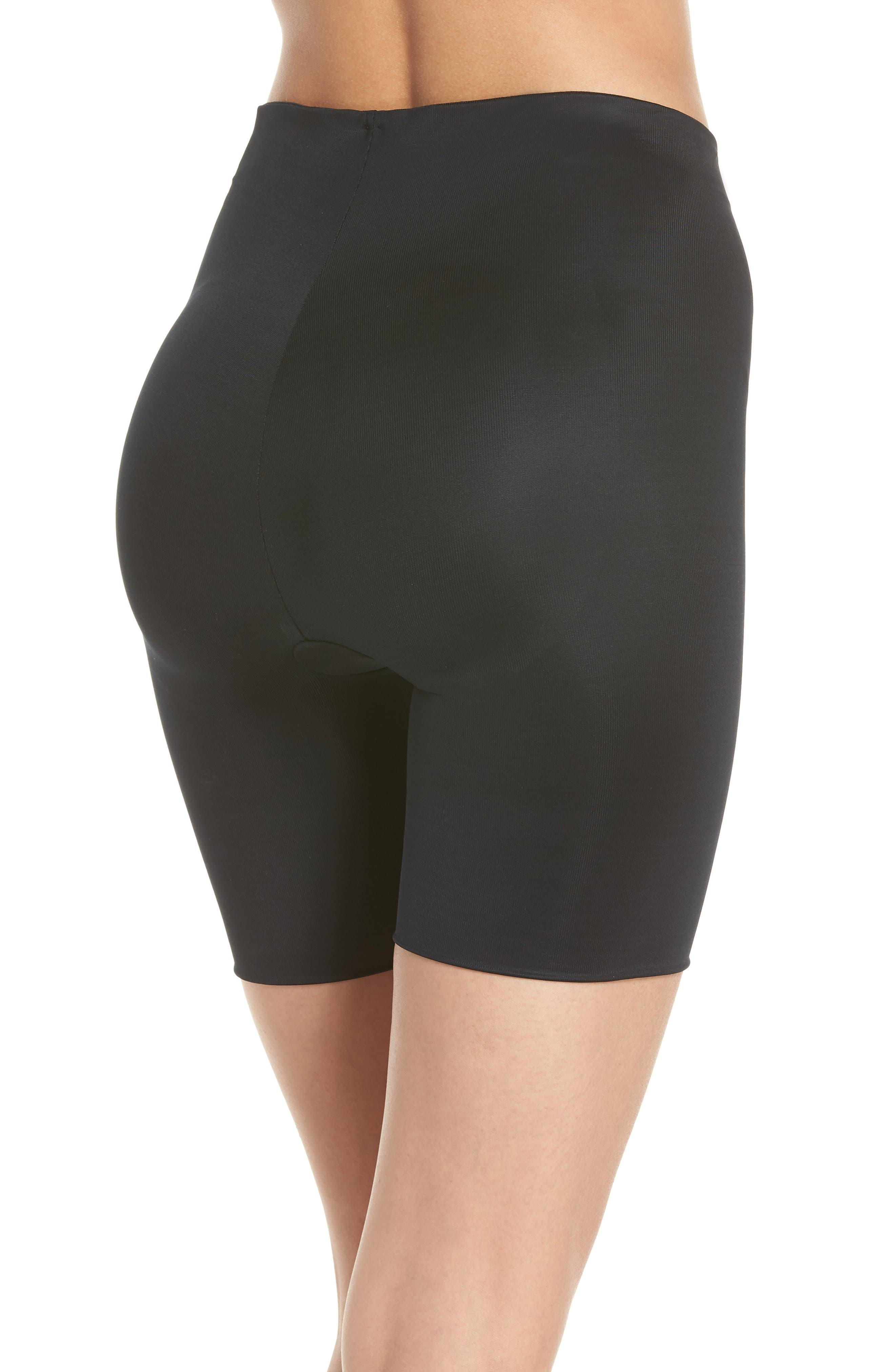 SPANX<SUP>®</SUP>, Suit Your Fancy Butt Enhancer Shorts, Alternate thumbnail 2, color, VERY BLACK