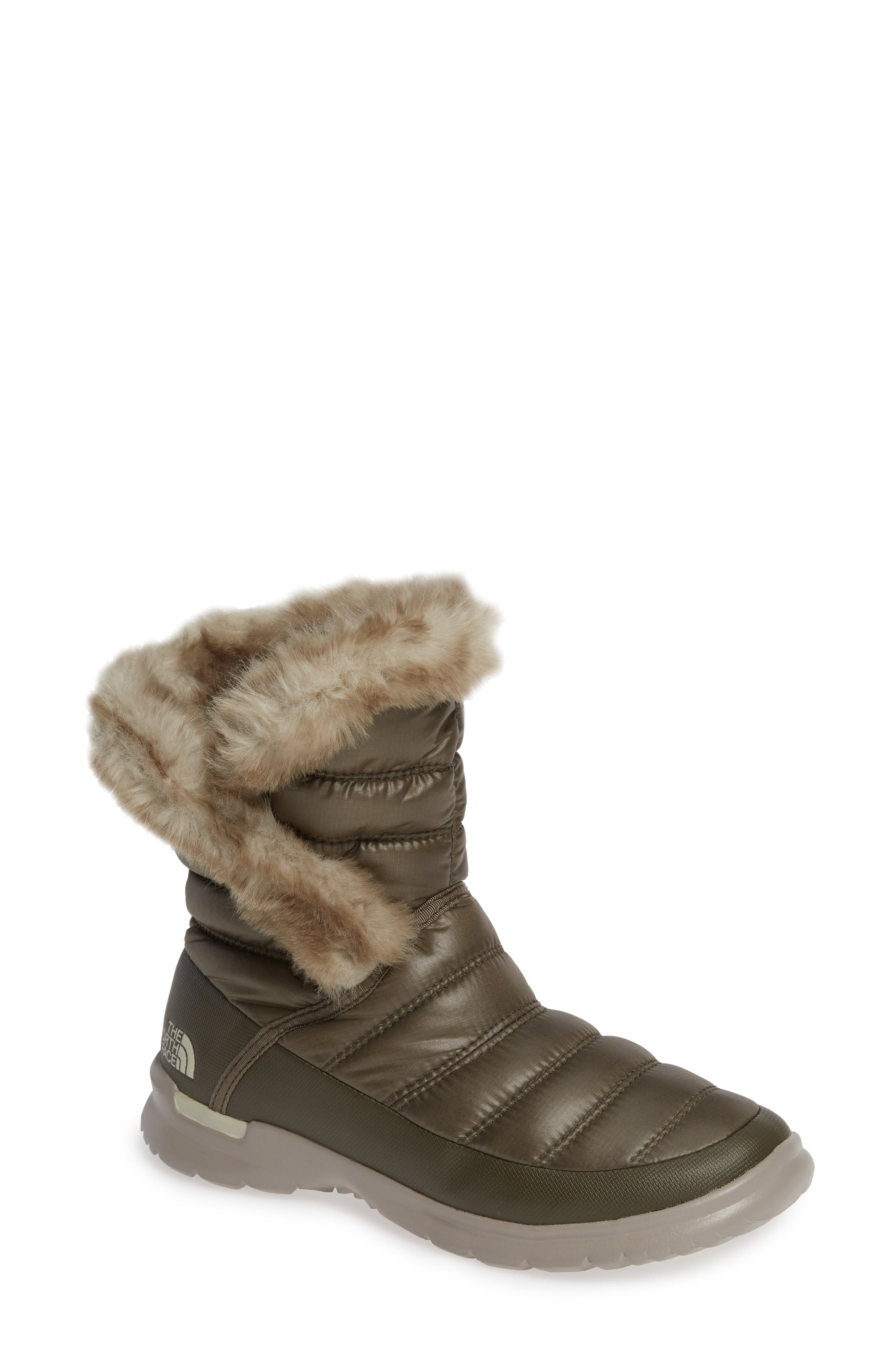 The North Face Microbaffle Waterproof Thermoball Insulated Winter Boot, Green
