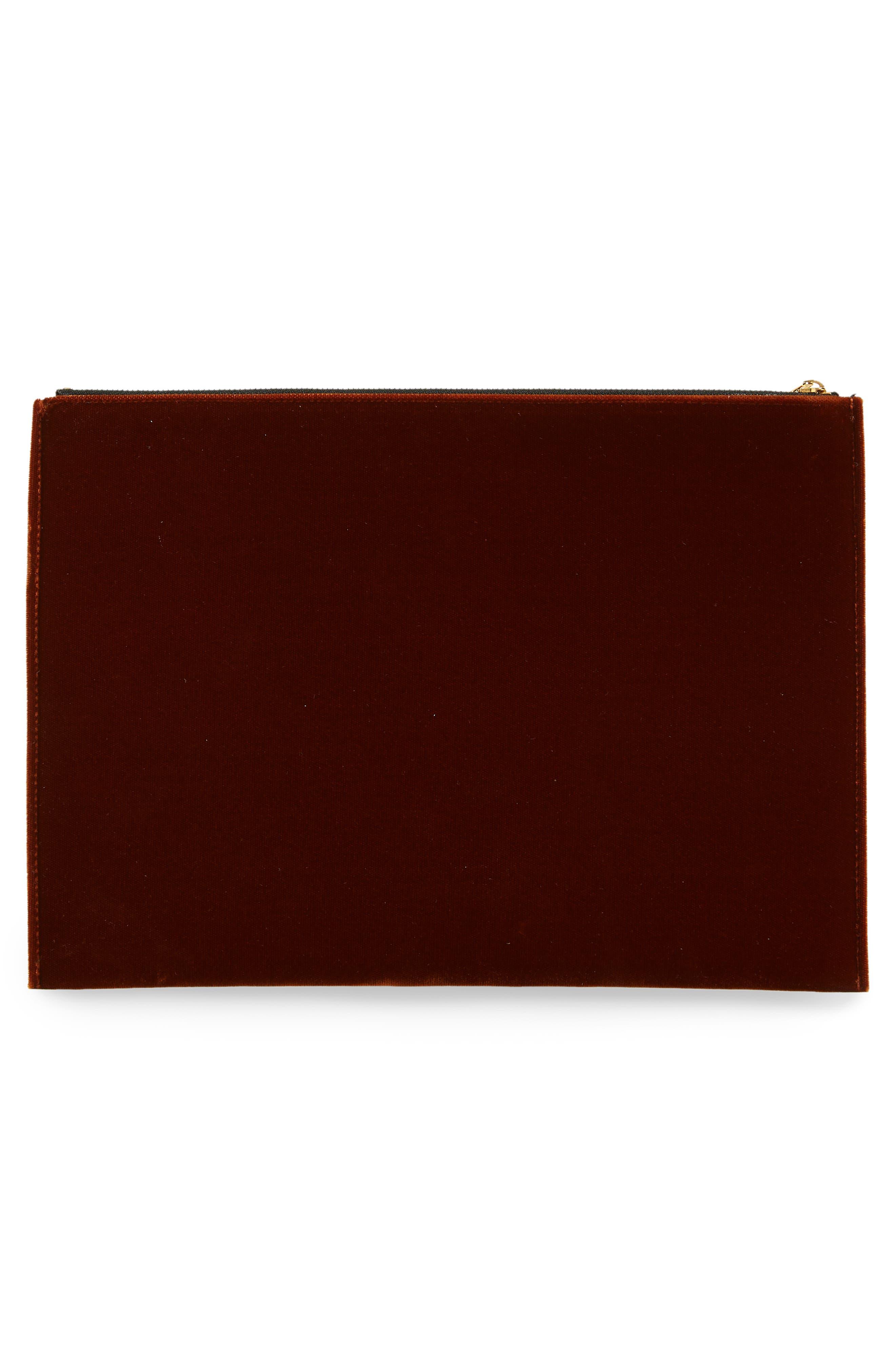 VICTORIA BECKHAM, Large Zip Pouch, Alternate thumbnail 3, color, 200