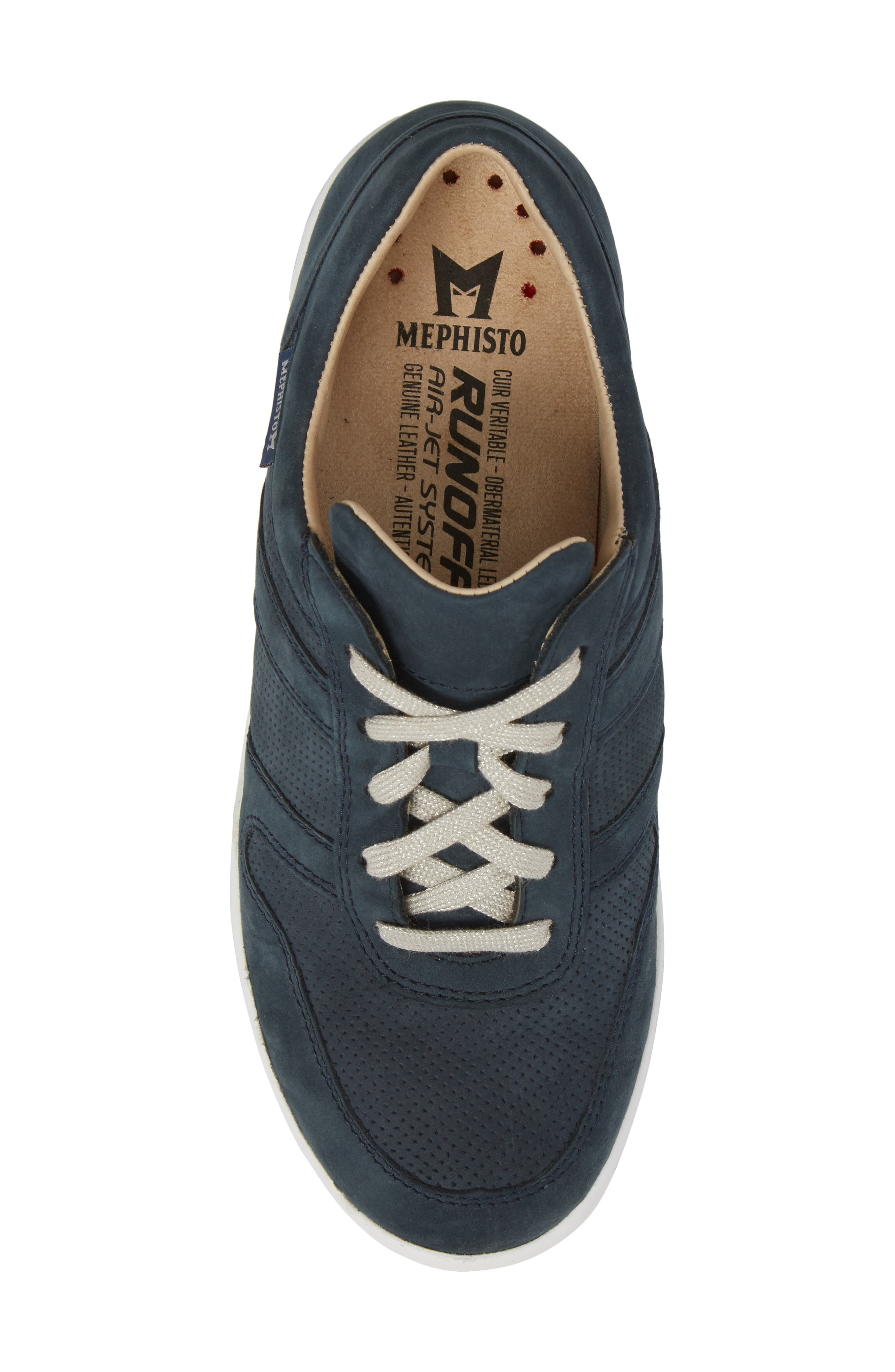 MEPHISTO, Rebecca Perforated Sneaker, Alternate thumbnail 5, color, NAVY