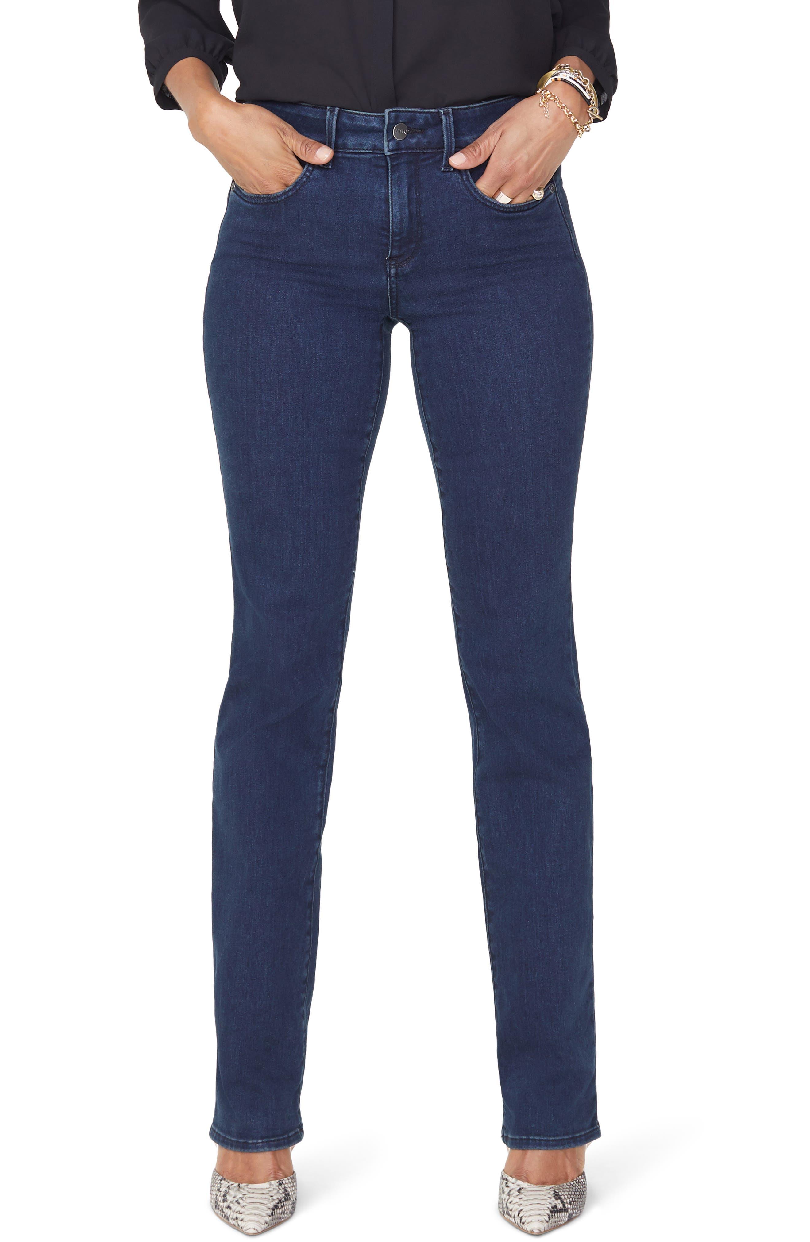 NYDJ, Marilyn Stretch Straight Leg Jeans, Main thumbnail 1, color, 405