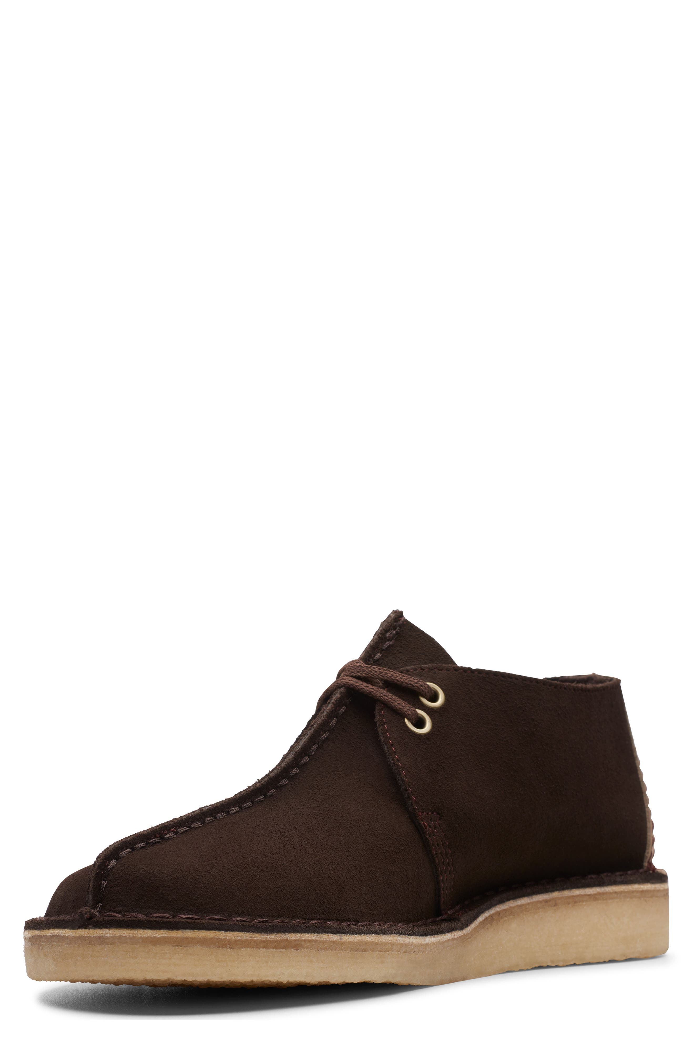 CLARKS<SUP>®</SUP>, Desert Trek Chukka Boot, Alternate thumbnail 6, color, DARK BROWN SUEDE