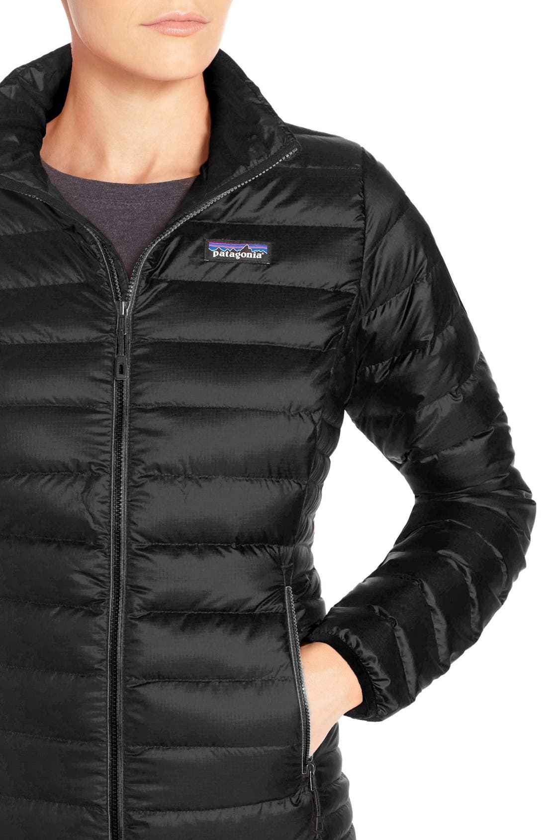 PATAGONIA, Down Jacket, Alternate thumbnail 6, color, BLACK