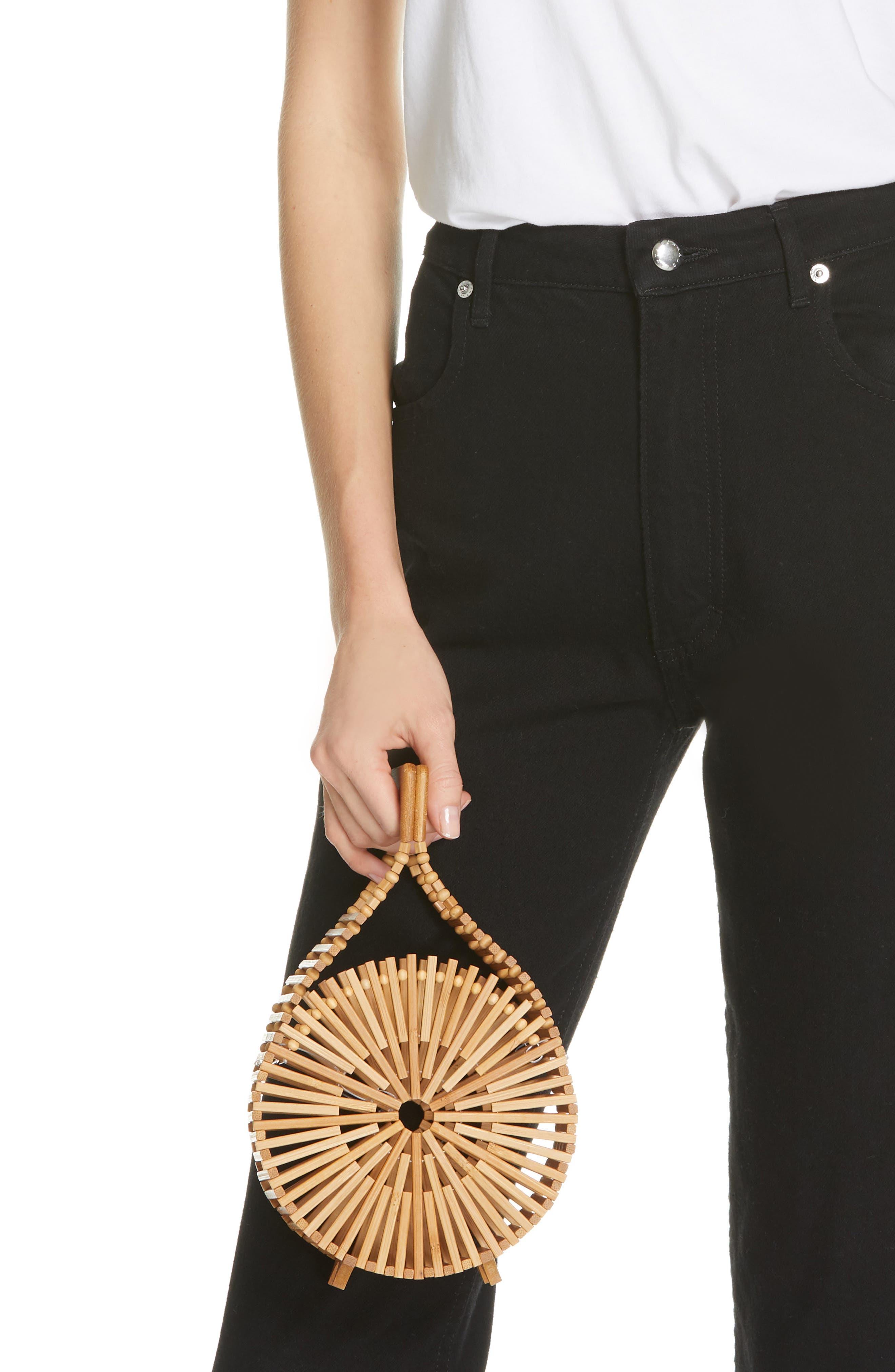 CULT GAIA, Zaha Top Handle Bamboo Bag, Alternate thumbnail 2, color, TAN NATURAL